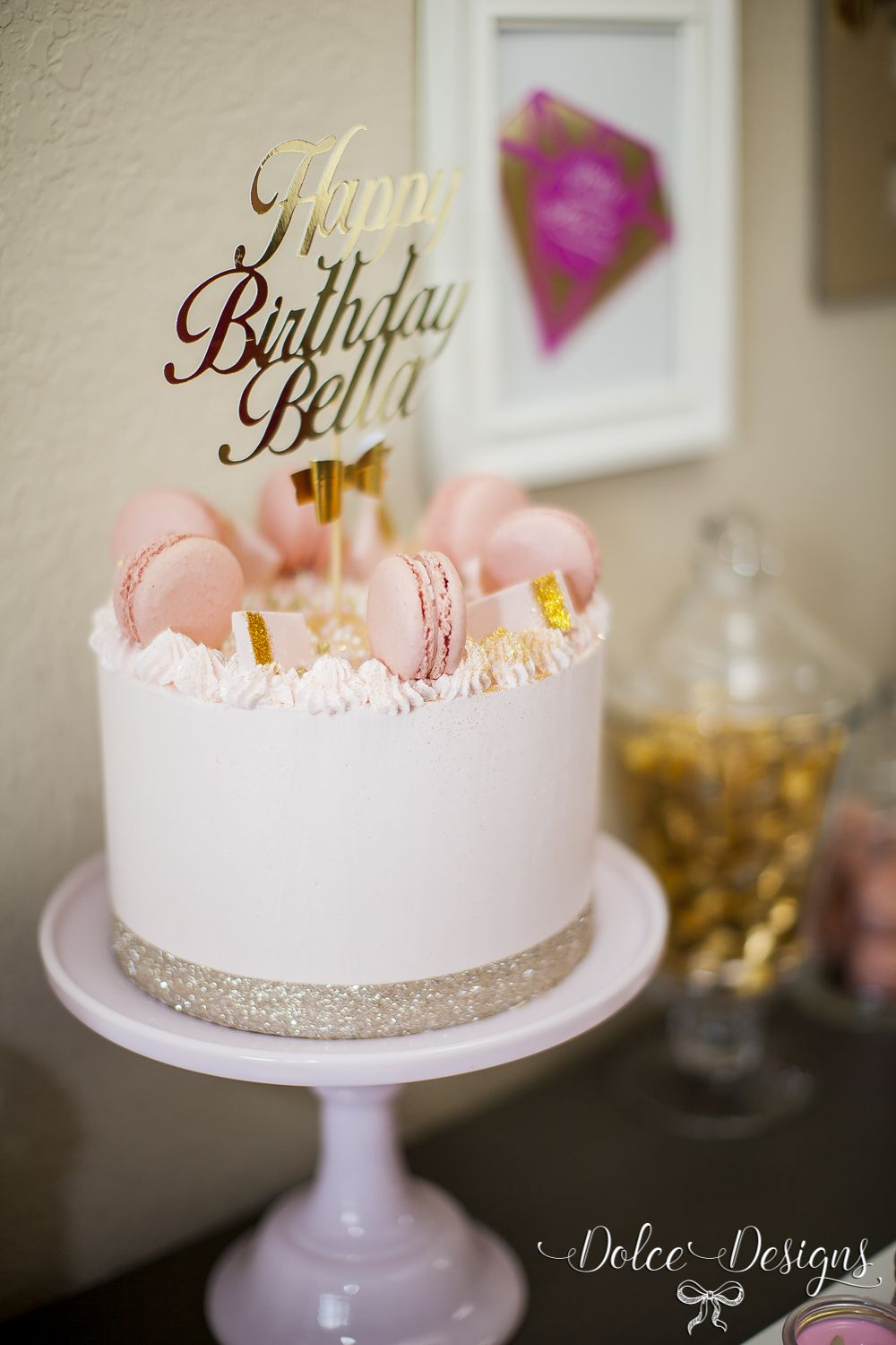 Birthday Cake For Her Modern Pink And Gold Birthday Cake Cakes Pinterest Birthday