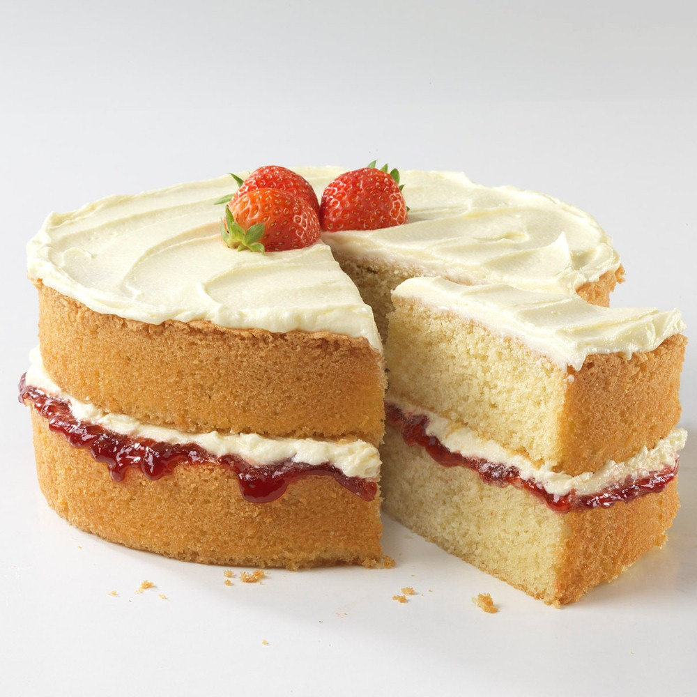 Birthday Cake Icing Recipe Victoria Sandwich Cake With Buttercream Icing Baking Mad