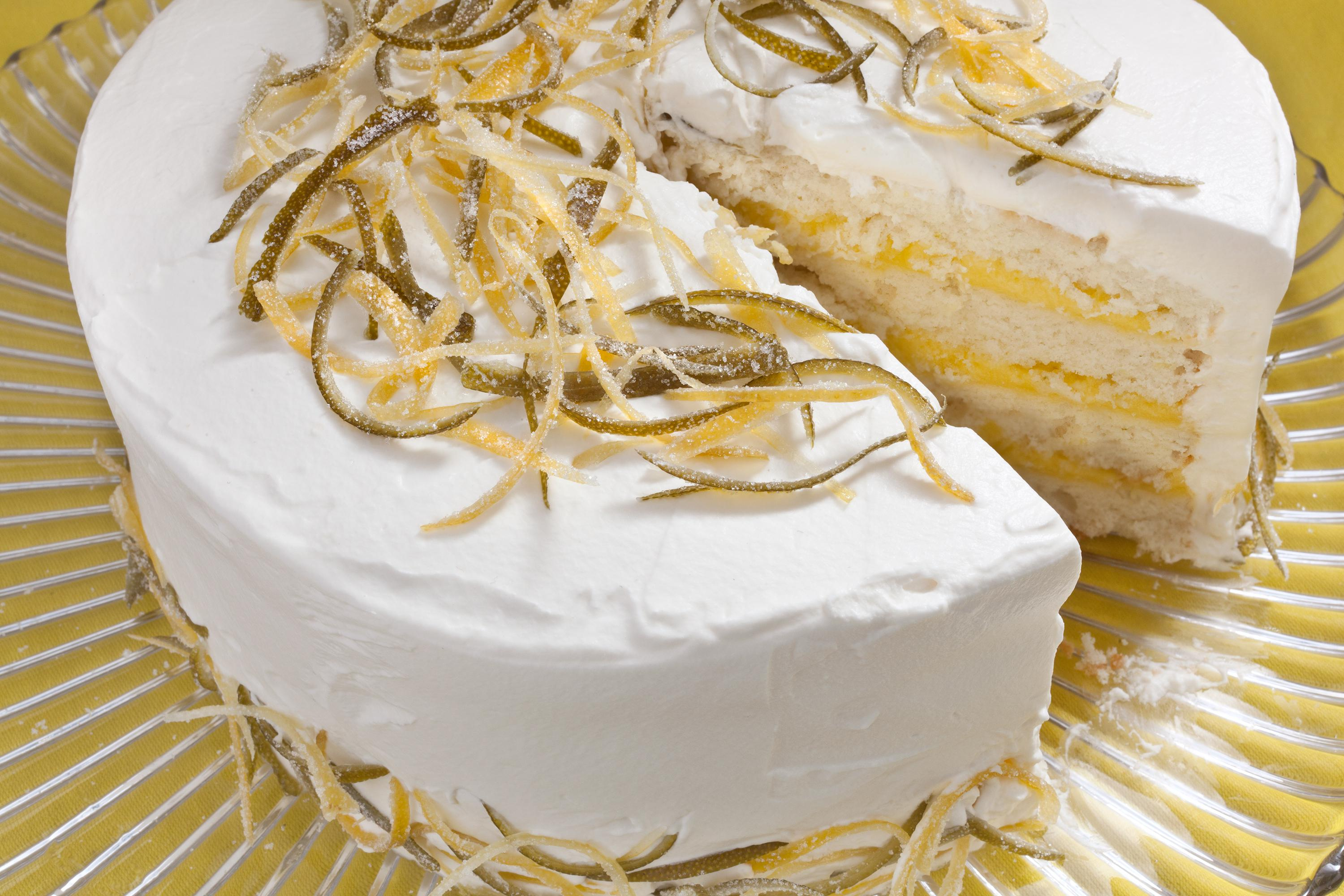Birthday Cake Icing Recipe White Cake With Lemon Lime Curd Filling And Whipped Cream Frosting