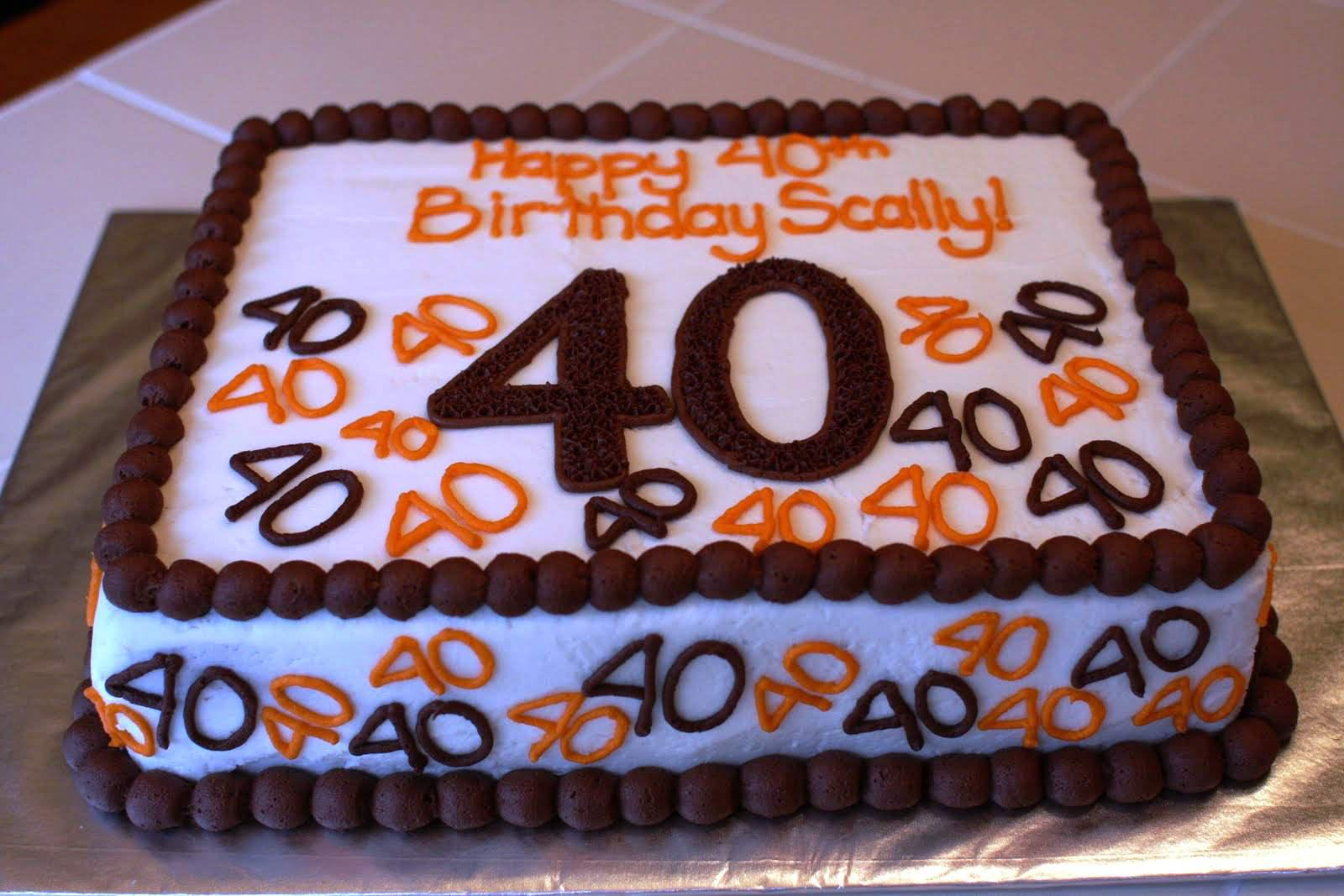 Birthday Cake Ideas For Men 40th Protoblogr Design