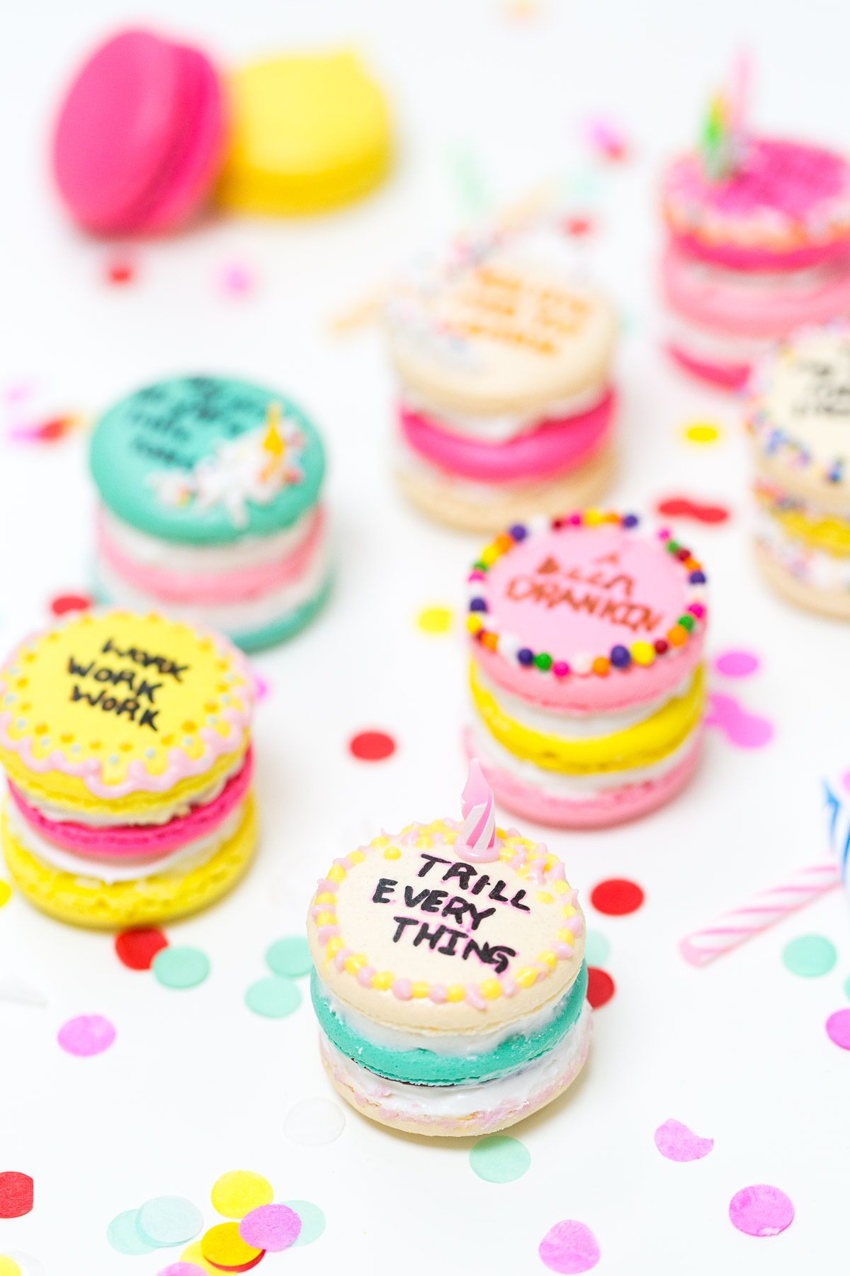 1200 X 1800 In 35 Brilliant Picture Of Birthday Cake Macarons