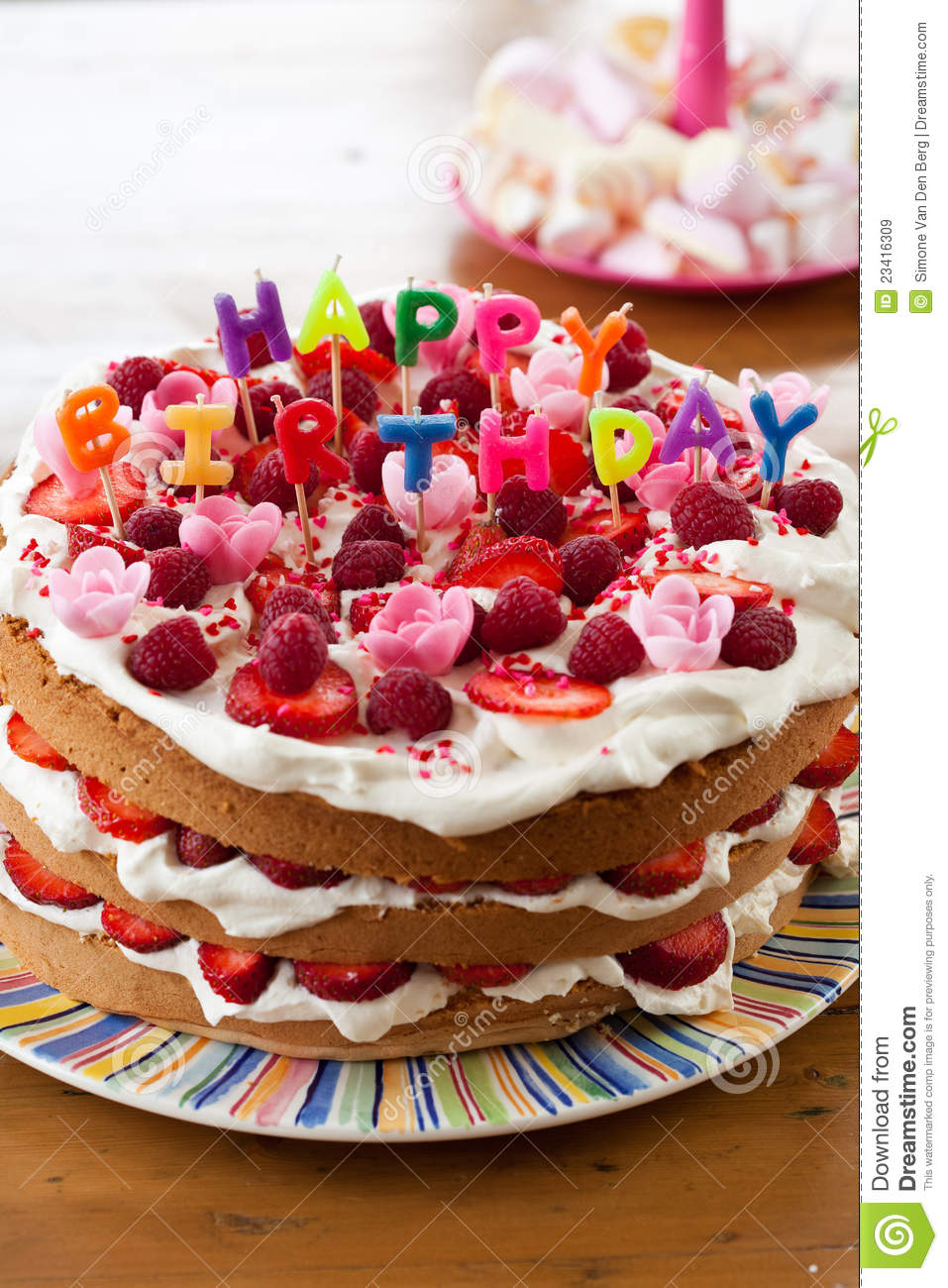 Birthday Cake Picture Free Download Happy Birthday Cake Stock Image Image Of Obese Decoration 23416309