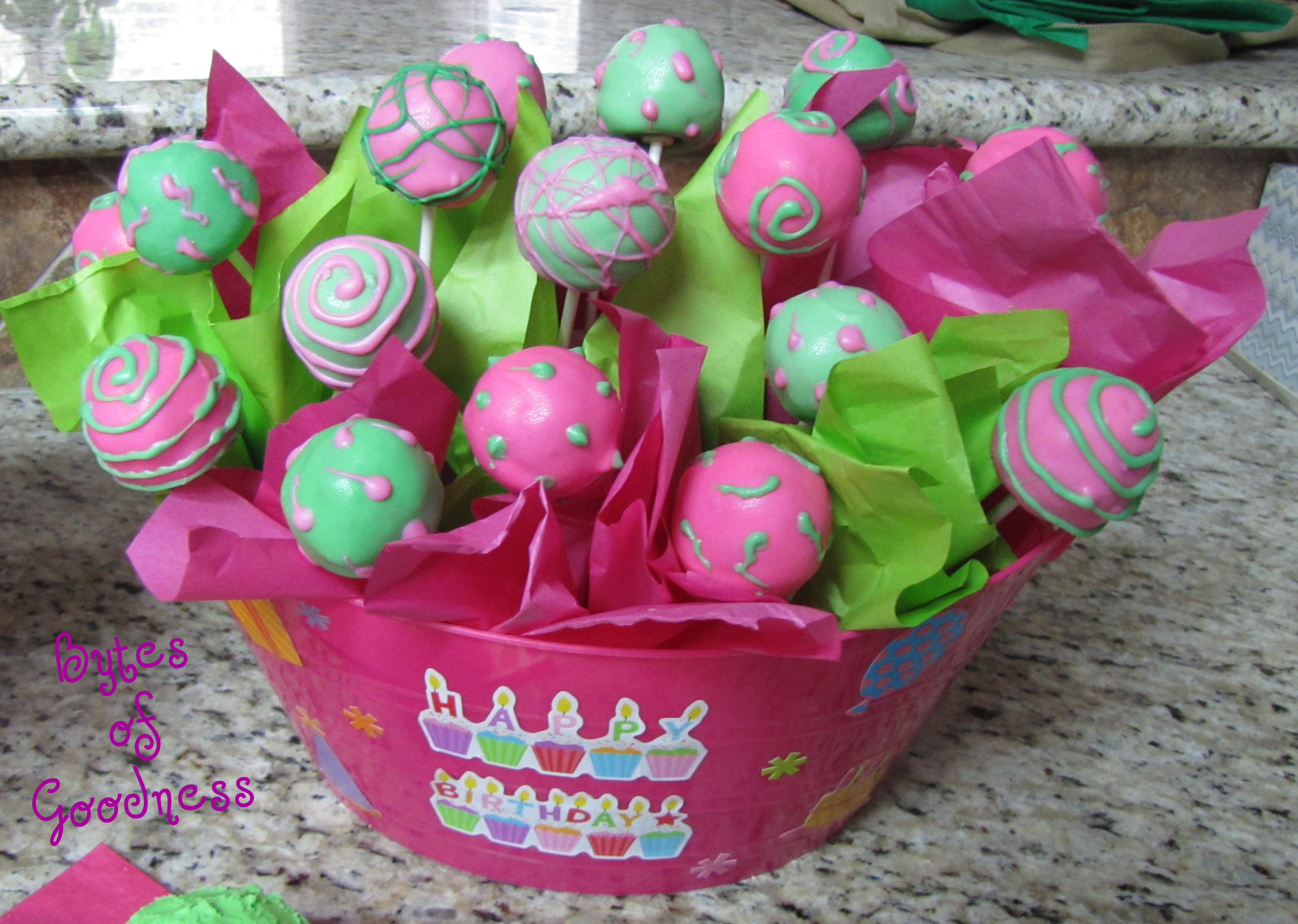 Birthday Cake Pops Birthday Cake Pop Arrangement Tes Of Goodness