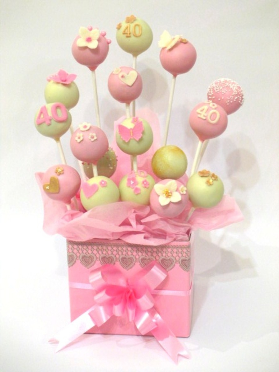 Birthday Cake Pops Cake Pop Bouquet 40th Birthday Cakecentral