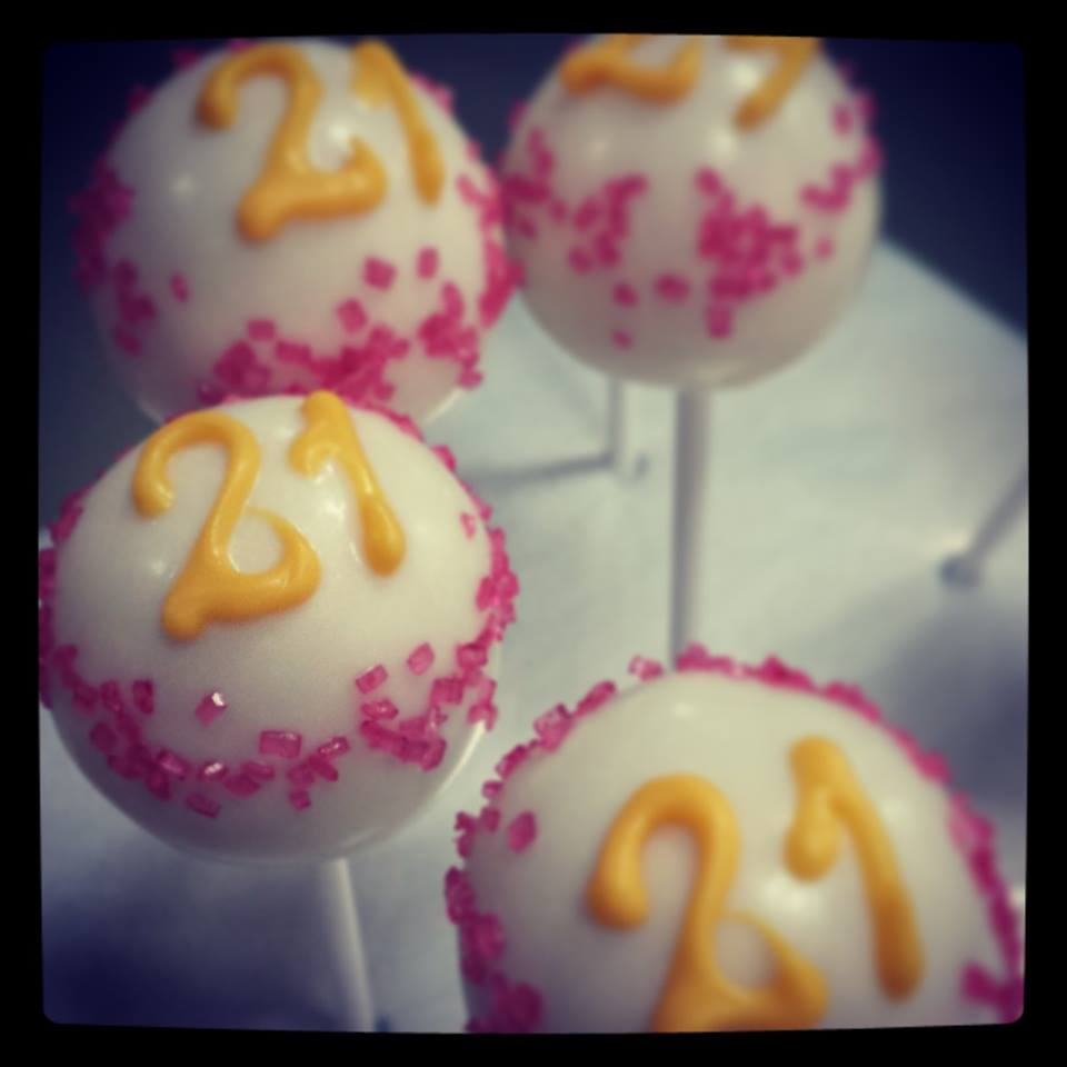 Birthday Cake Pops Delish 21st Birthday Cake Pops