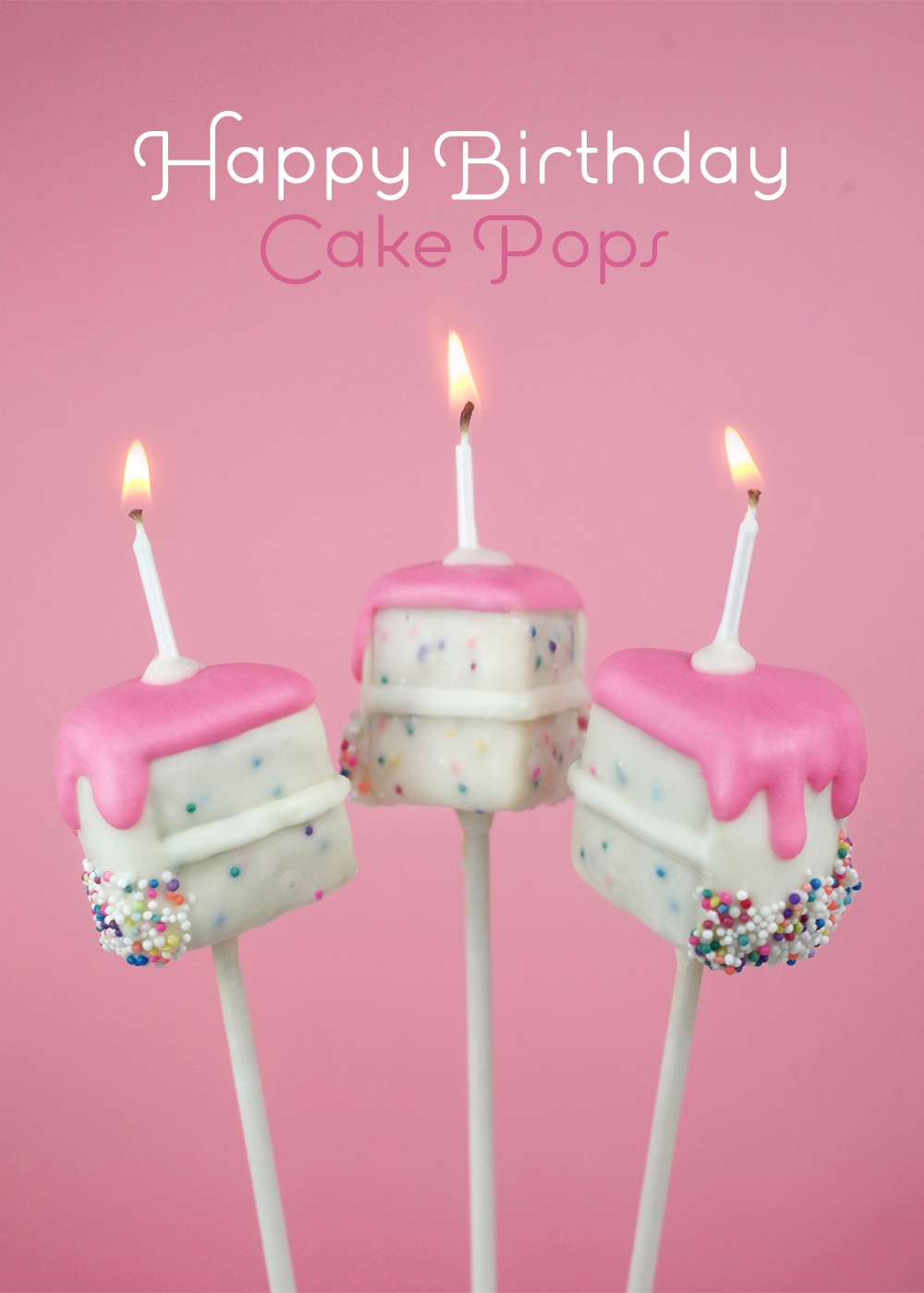 Birthday Cake Pops Happy Birthday Cake Pops Bakerella