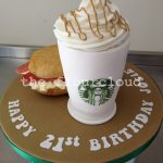 Birthday Cake Starbucks Breakfast Bap And A Starbucks Coffee Birthday Cake Sugar Craft