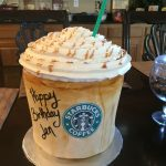 Birthday Cake Starbucks Caramel Macchiato Starbucks Starbucks Cake Birthday Cake Themed