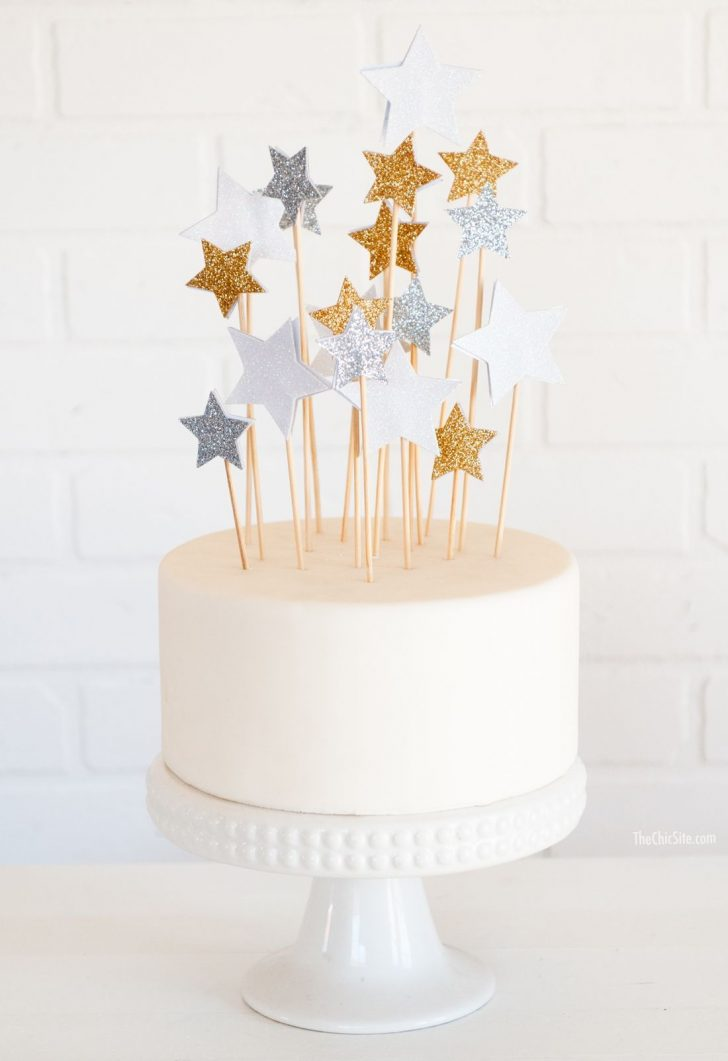 Birthday Cake Toppers Diy Star Cake Toppers Diy Cake Cake Decorating Birthday Cake