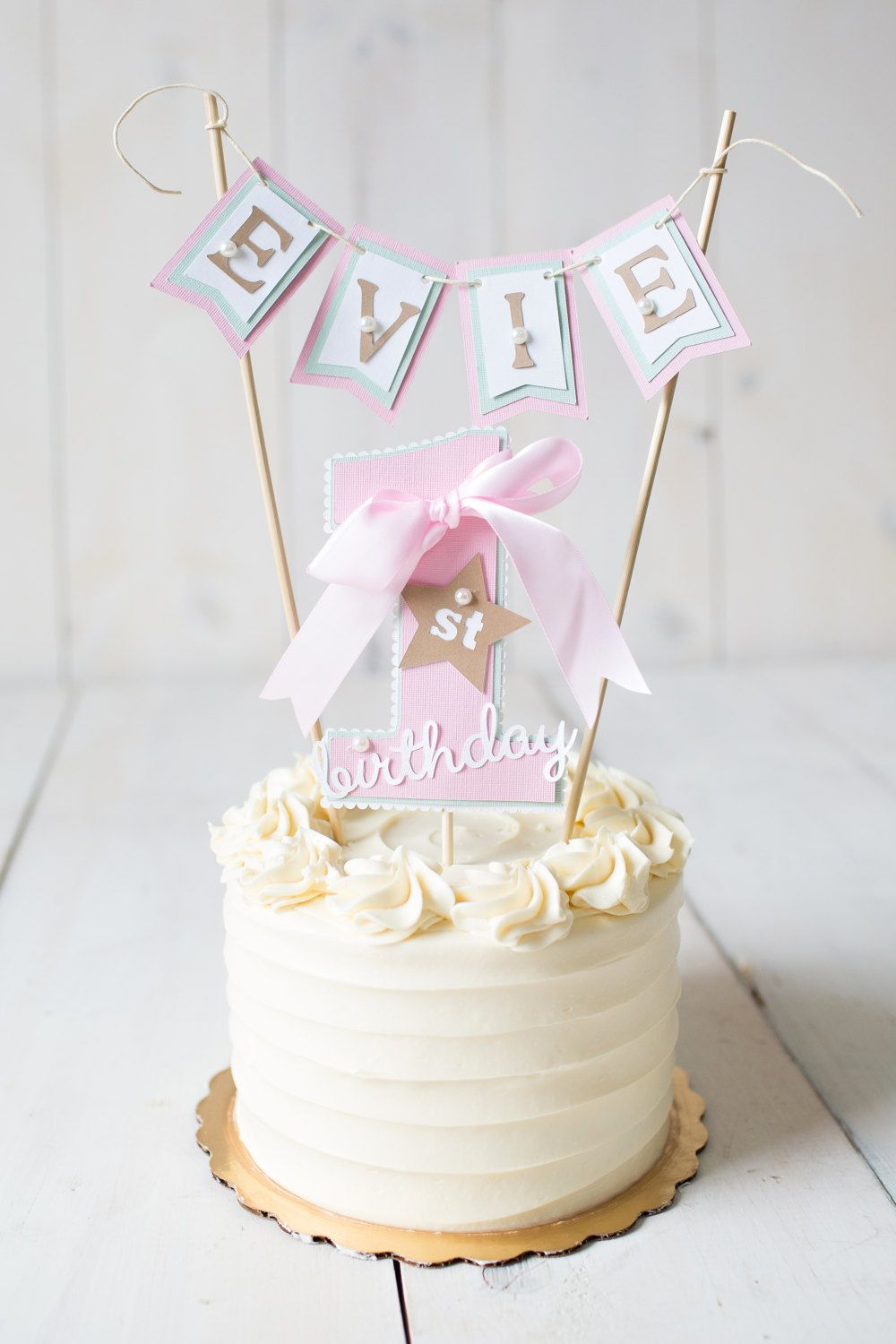 Birthday Cake Toppers Girl First Birthday First Birthday Decorations 1st Birthday Cake