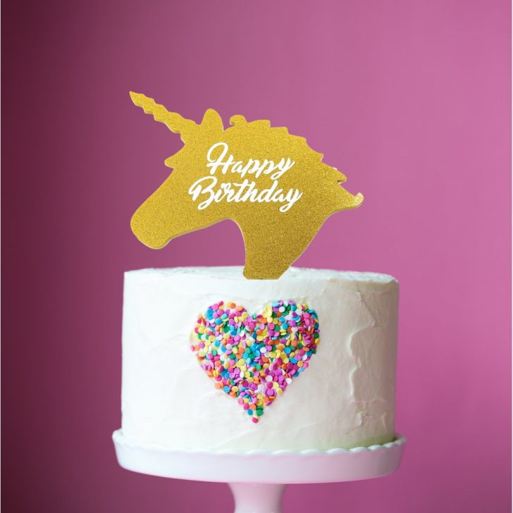 Birthday Cake Toppers Little Boo Teek Cake Topper Unicorn Birthday Gold Cake