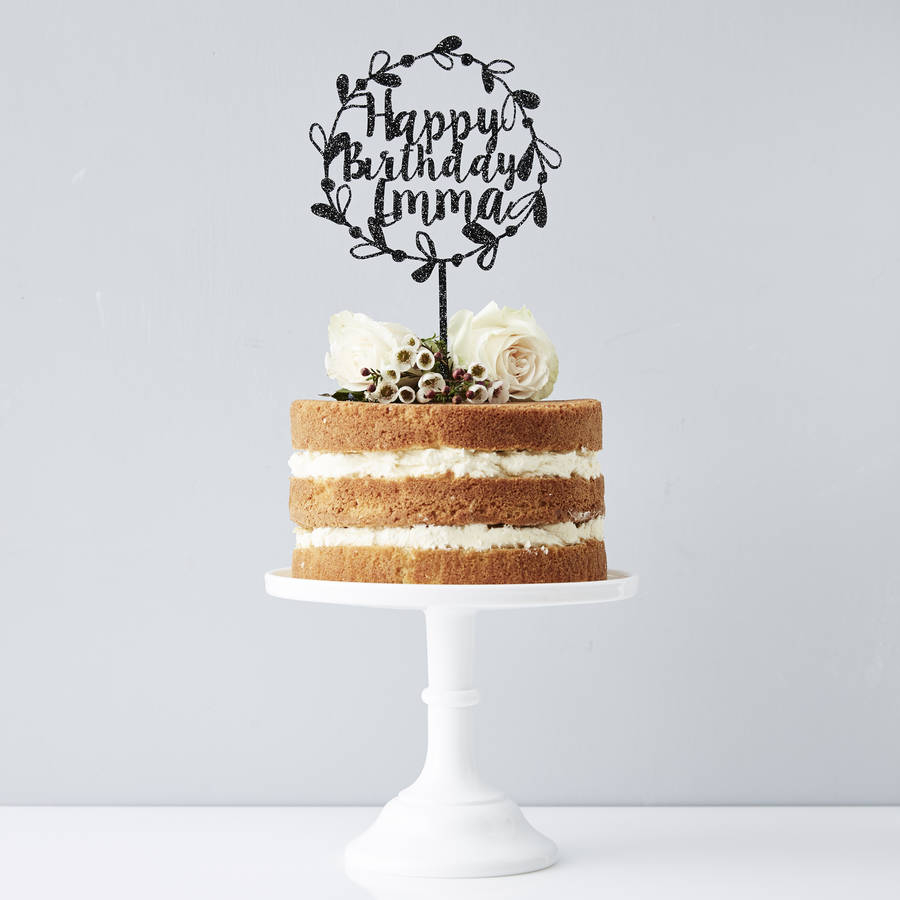 Birthday Cake Toppers Personalised Floral Birthday Cake Topper Sophia Victoria Joy