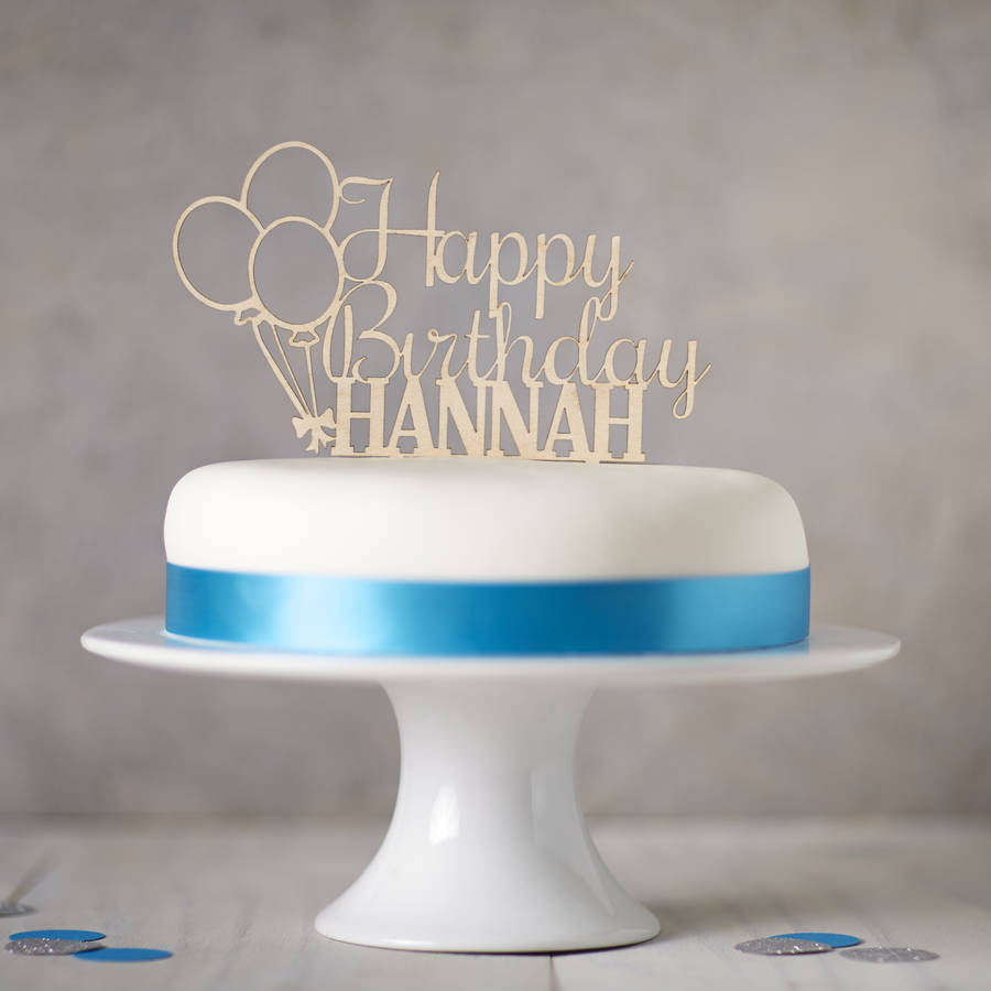 Birthday Cake Toppers Personalised Wooden Birthday Cake Topper Sophia Victoria Joy