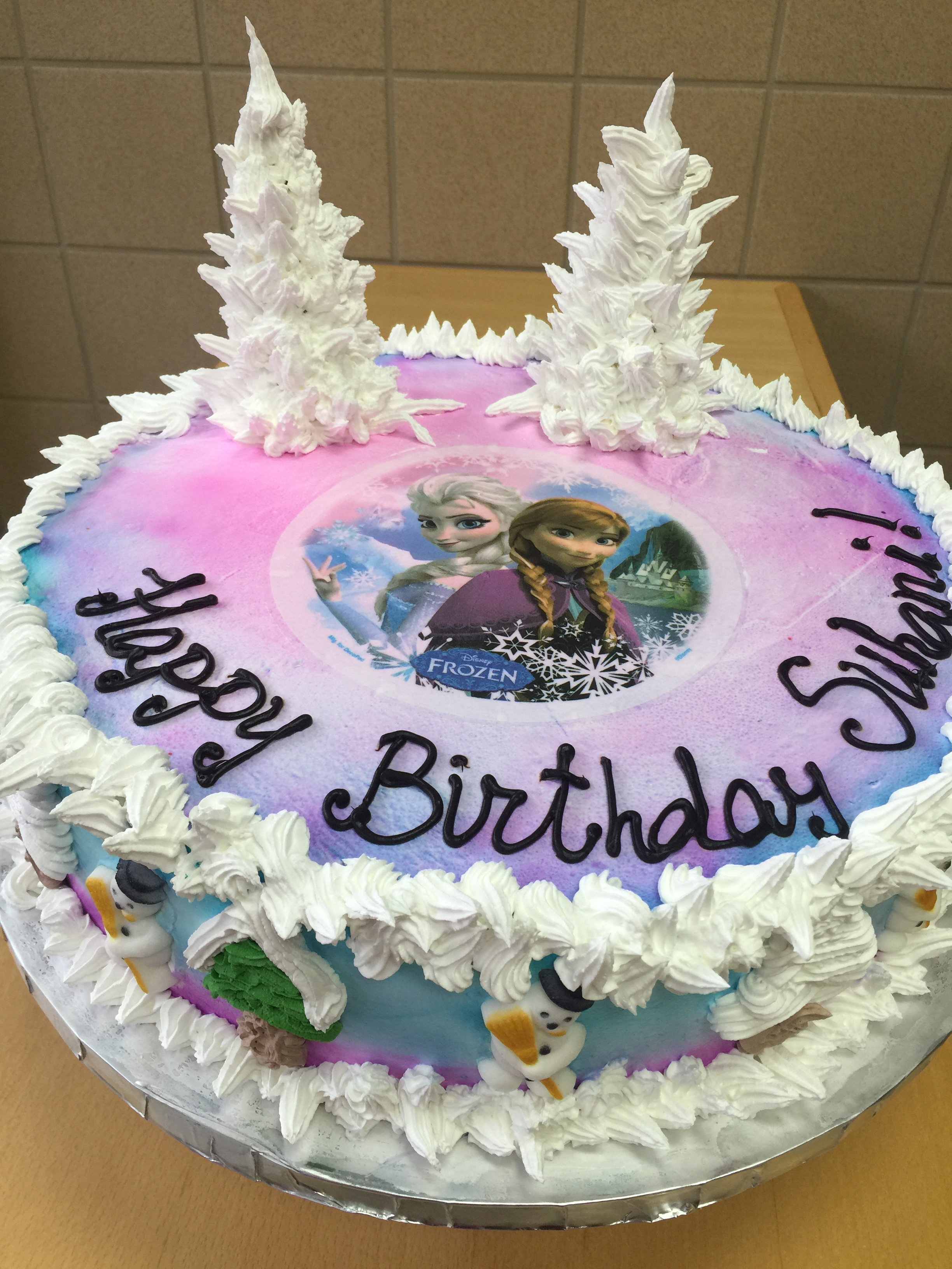 Birthday Cakes For 8 Years Old Girl Disneys Frozen Themed Cake Wild Berries Bakery And Cafe