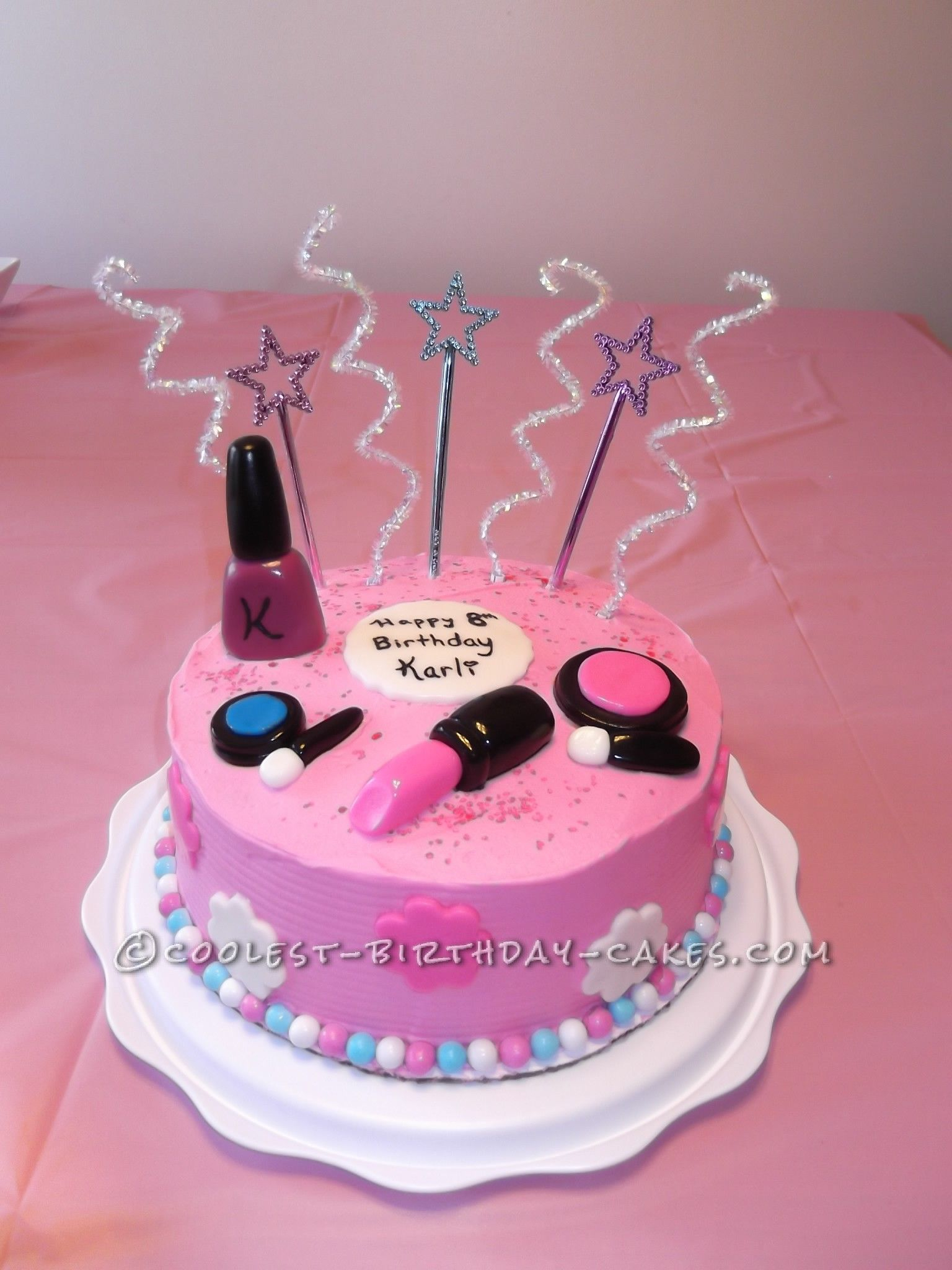Birthday Cakes For 8 Years Old Girl Sweet Makeup Cake For An 8 Year Old Girl Cake And Chocolate