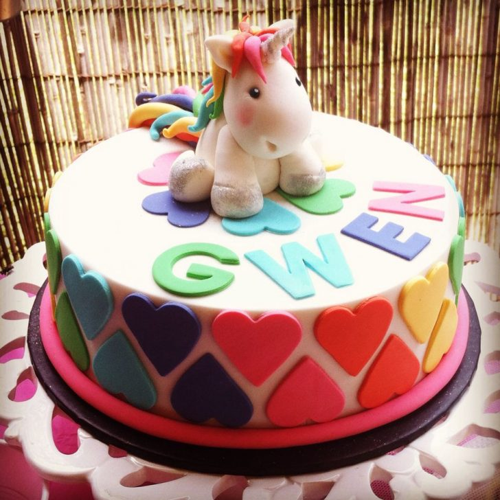 Birthday Cakes For 8 Years Old Girl Unicorn And Rainbows 8 Year Old Girls Birthday Cake Handmade