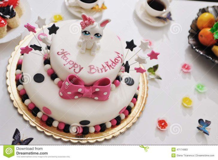 Birthday Cakes For Kids Happy Birthday Cake Stock Image Image Of Decor Decorated 47174983