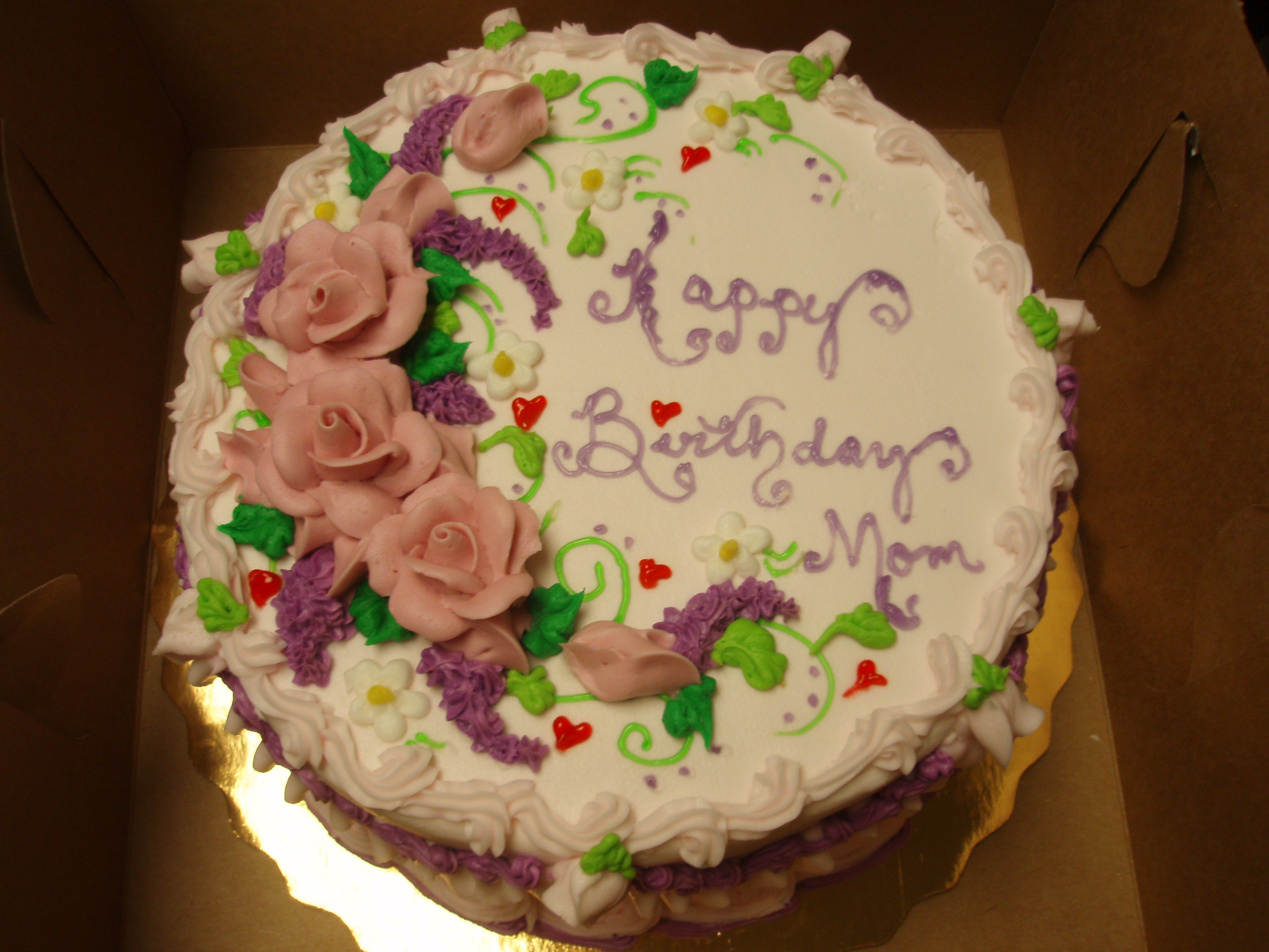 Birthday Cakes For Mom Happy Birthday Mom Cake Elegant Birthday