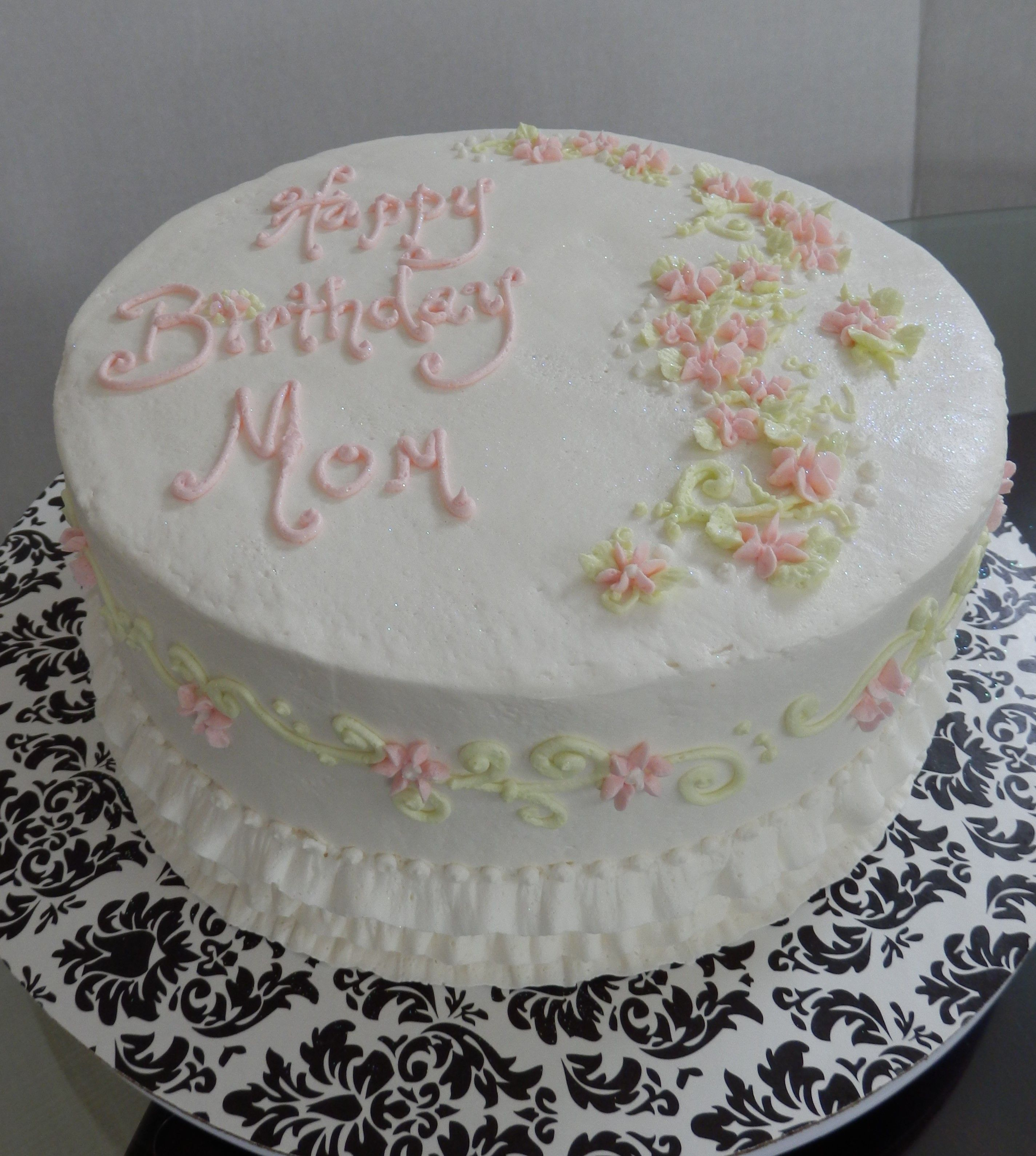 Birthday Cakes For Mom Simple Cake Buttercream Designs Pinterest