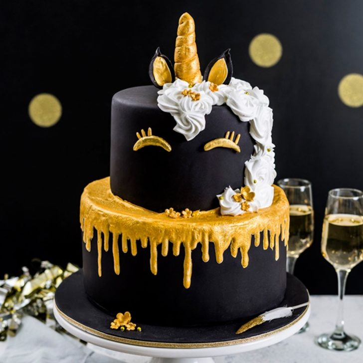 Birthday Cakes Golden Unicorn Birthday Cake