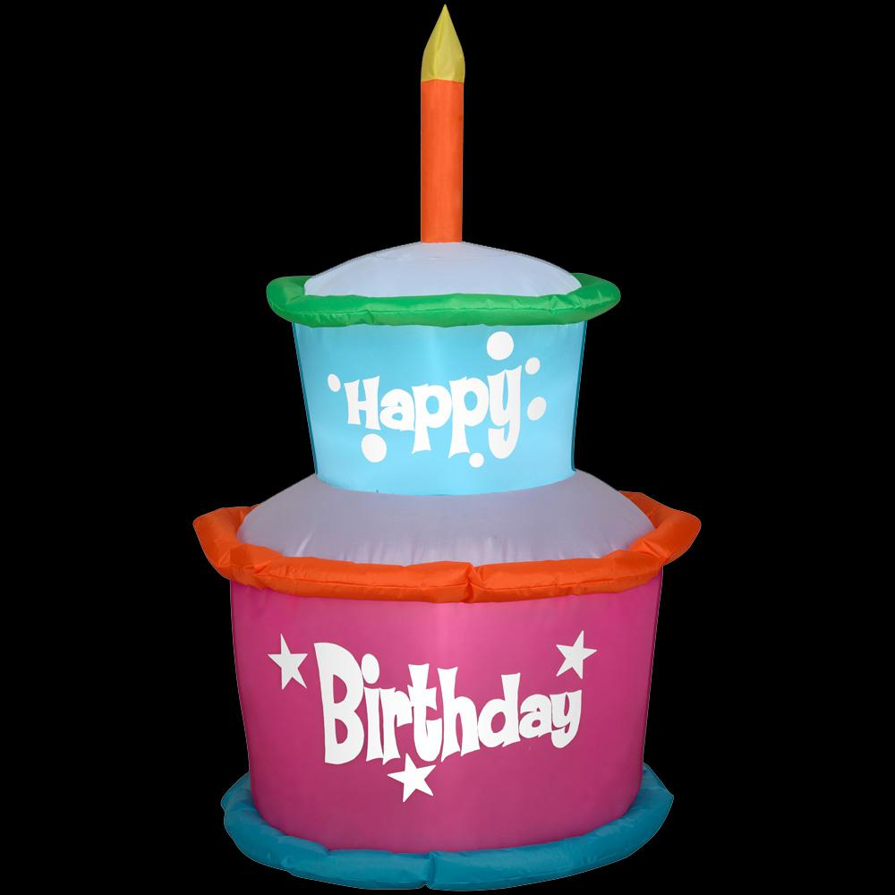 Birthday Cakes With Candles Airblown 2 Ft W X 4 Ft H Inflatable Birthday Cake With Candles
