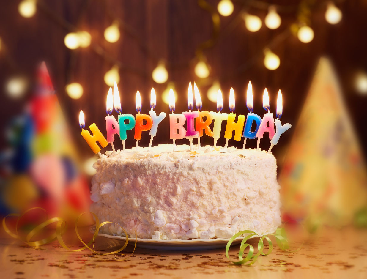 Birthday Cakes With Candles Birthday Cake With Candles Bright Lights Bokeh Eagle Rock