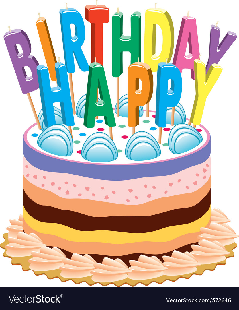 Birthday Cakes With Candles Birthday Cake With Candles Royalty Free Vector Image