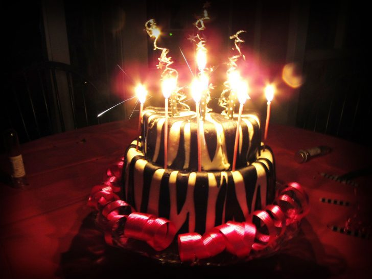 Birthday Cakes With Candles Sparkling Birthday Cakes