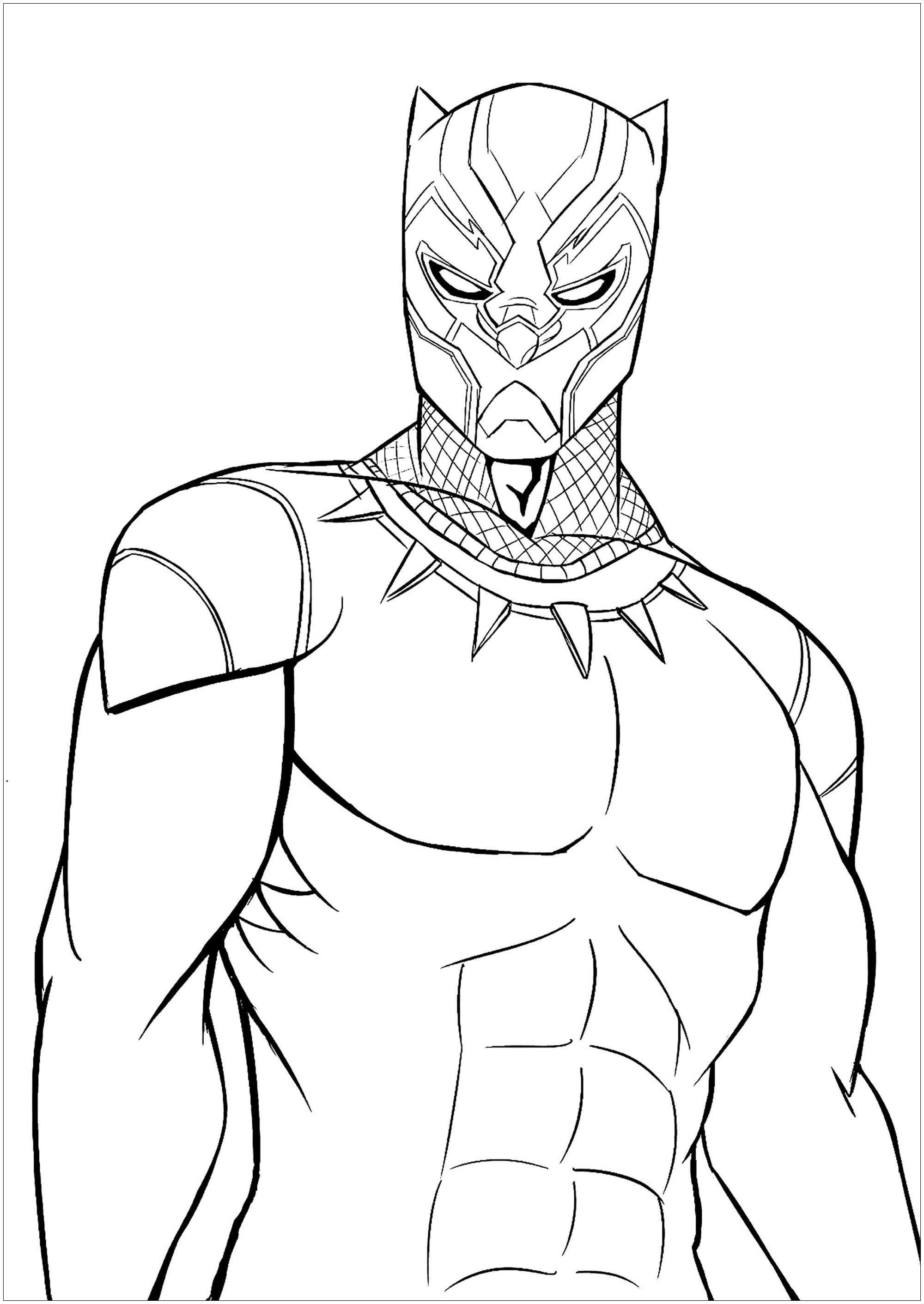 Brilliant Photo of Black Panther Coloring Pages