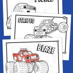 Blaze Coloring Pages Blaze Coloring Pack Nickelodeon Parents