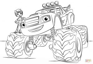 Blaze Coloring Pages Blaze Monster Truck Coloring Page Free Printable Coloring Pages