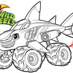 Blaze Coloring Pages Blaze Moster Machines Wild Wheels Shark Blaze Coloring Pages