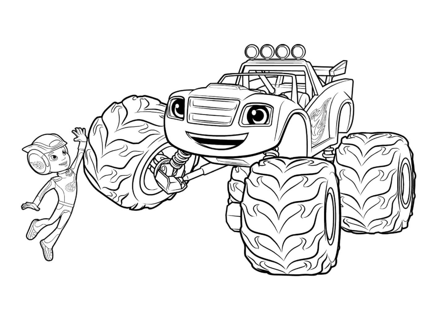 Blaze Coloring Pages Coloring Pages Blaze And The Monster Machines Free Collection New 15