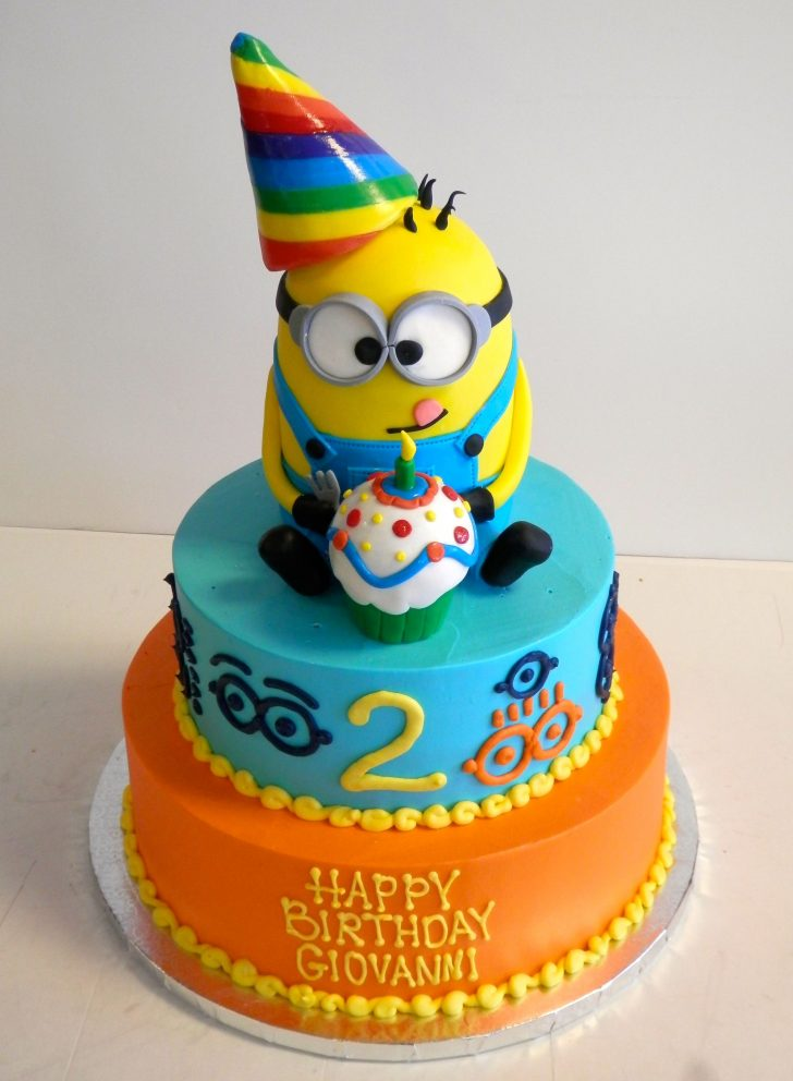Boy Birthday Cakes 2 Year Old Cake Despicableme Minions Boys