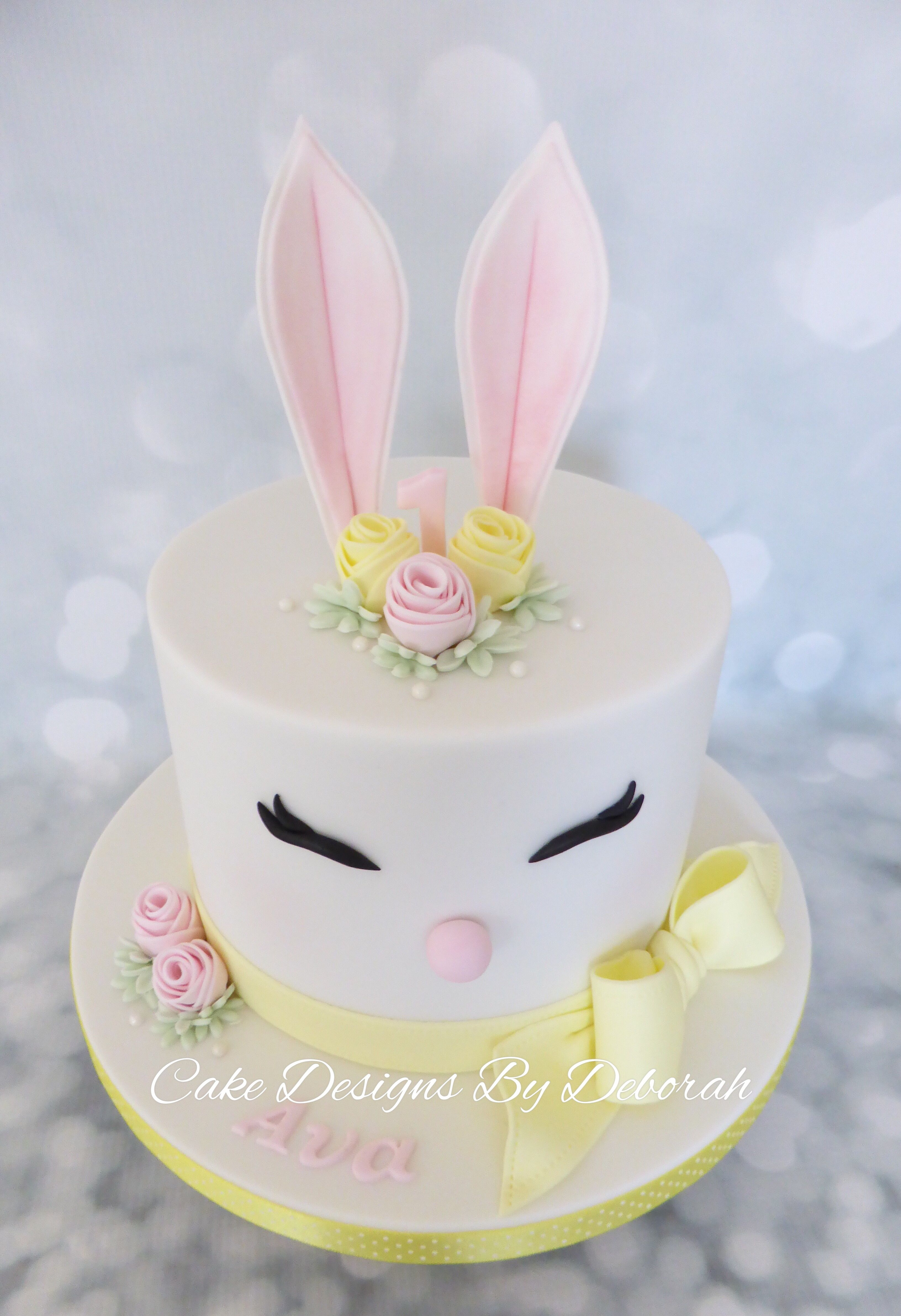 34+ Brilliant Picture of Bunny Birthday Cake