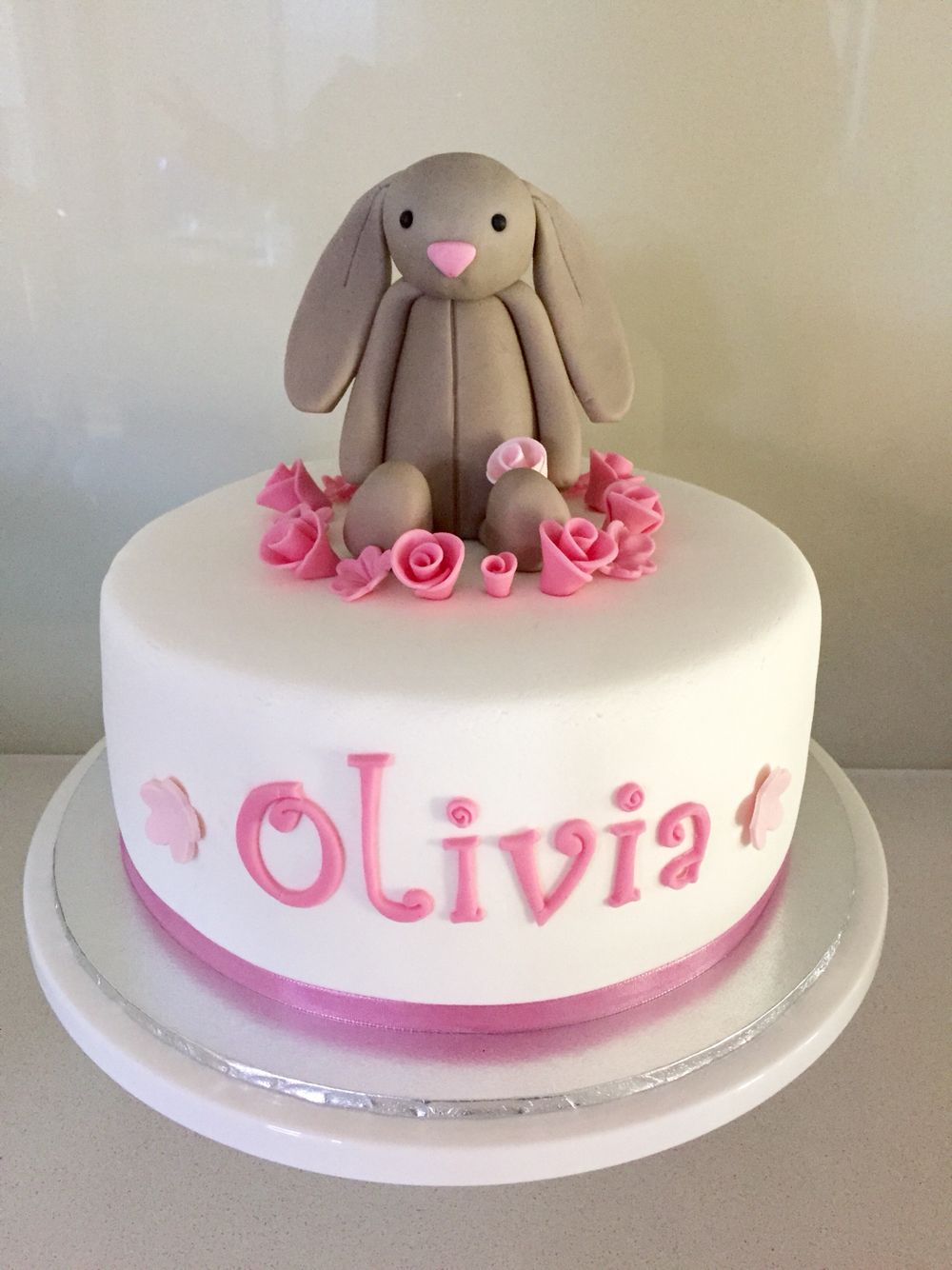 Bunny Birthday Cake Jelly Cat Bunny Cake Ba Shower Cake Birthday Cake Rabbit Cake