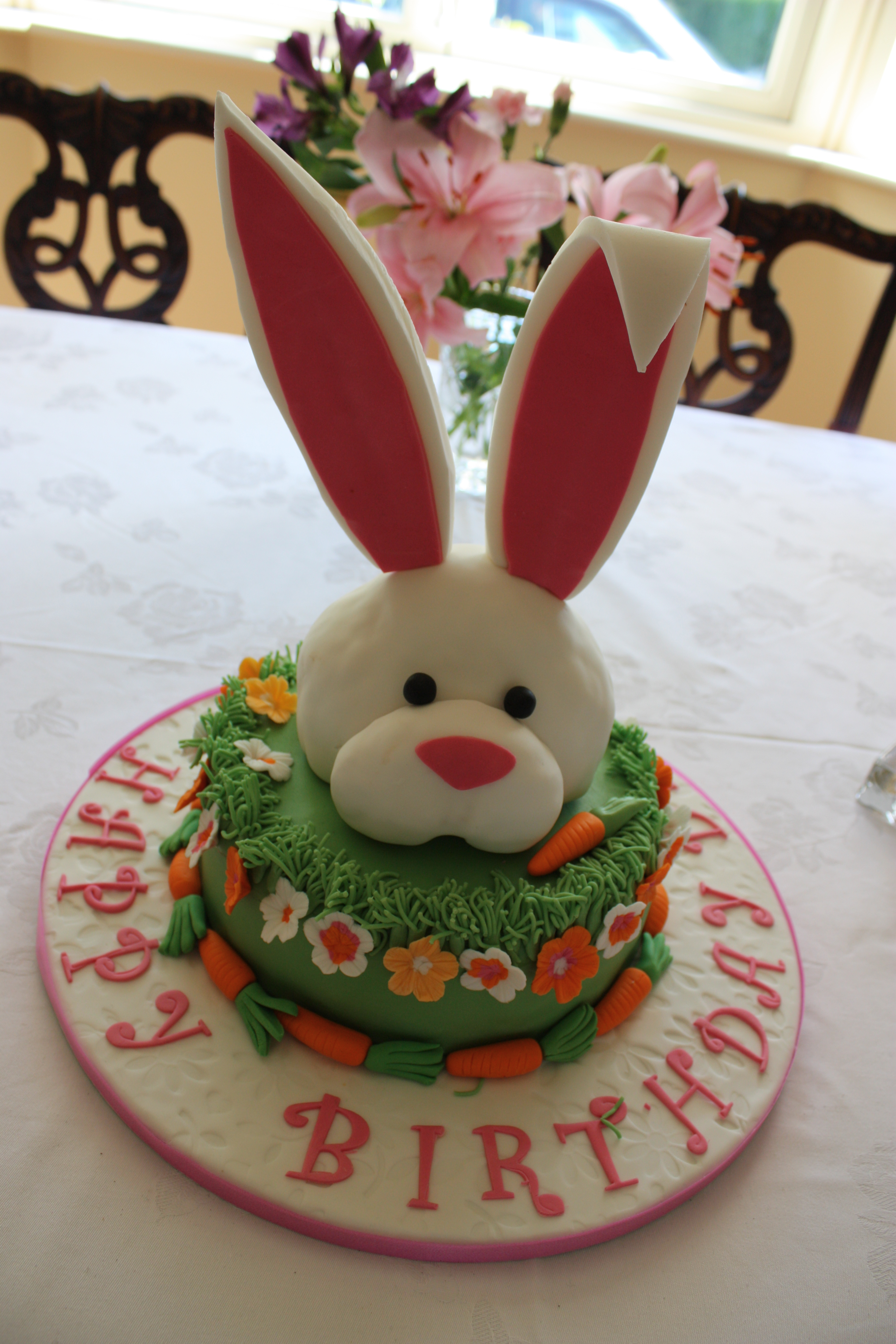 Bunny Birthday Cake Rabbit Birthday Cakes
