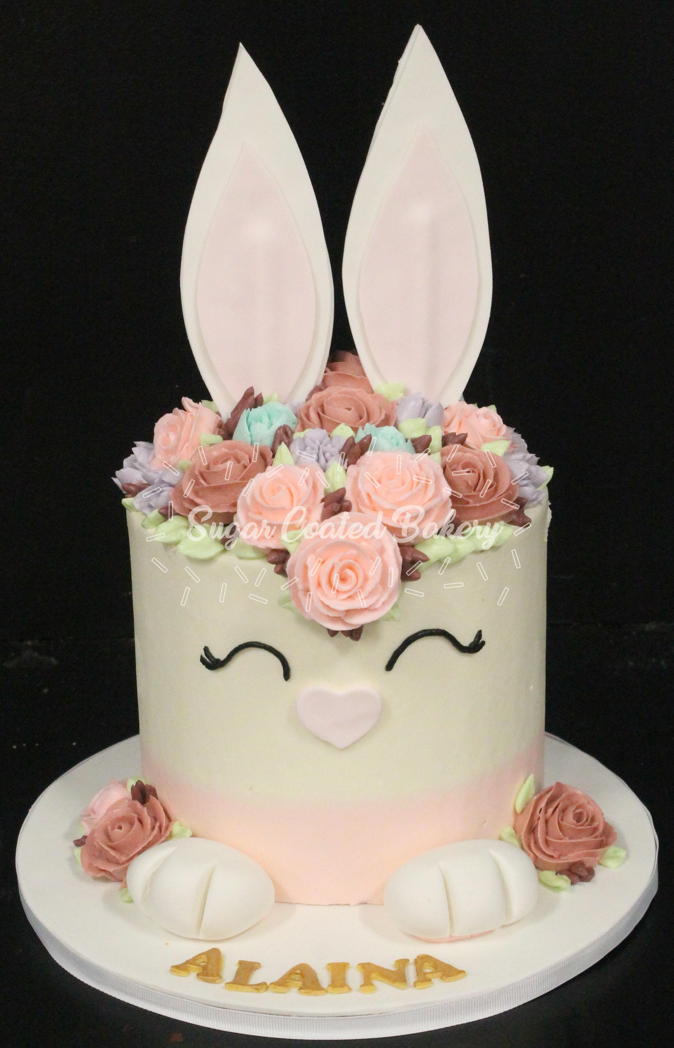 Bunny Birthday Cake Sugar Coated Bakery Lowell Baking Everyday Better