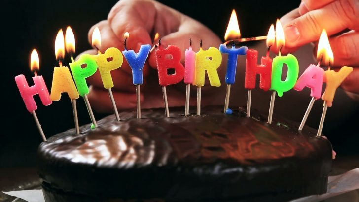 Cake Happy Birthday Lighted Candles On A Happy Birthday Cake Candles With The Words