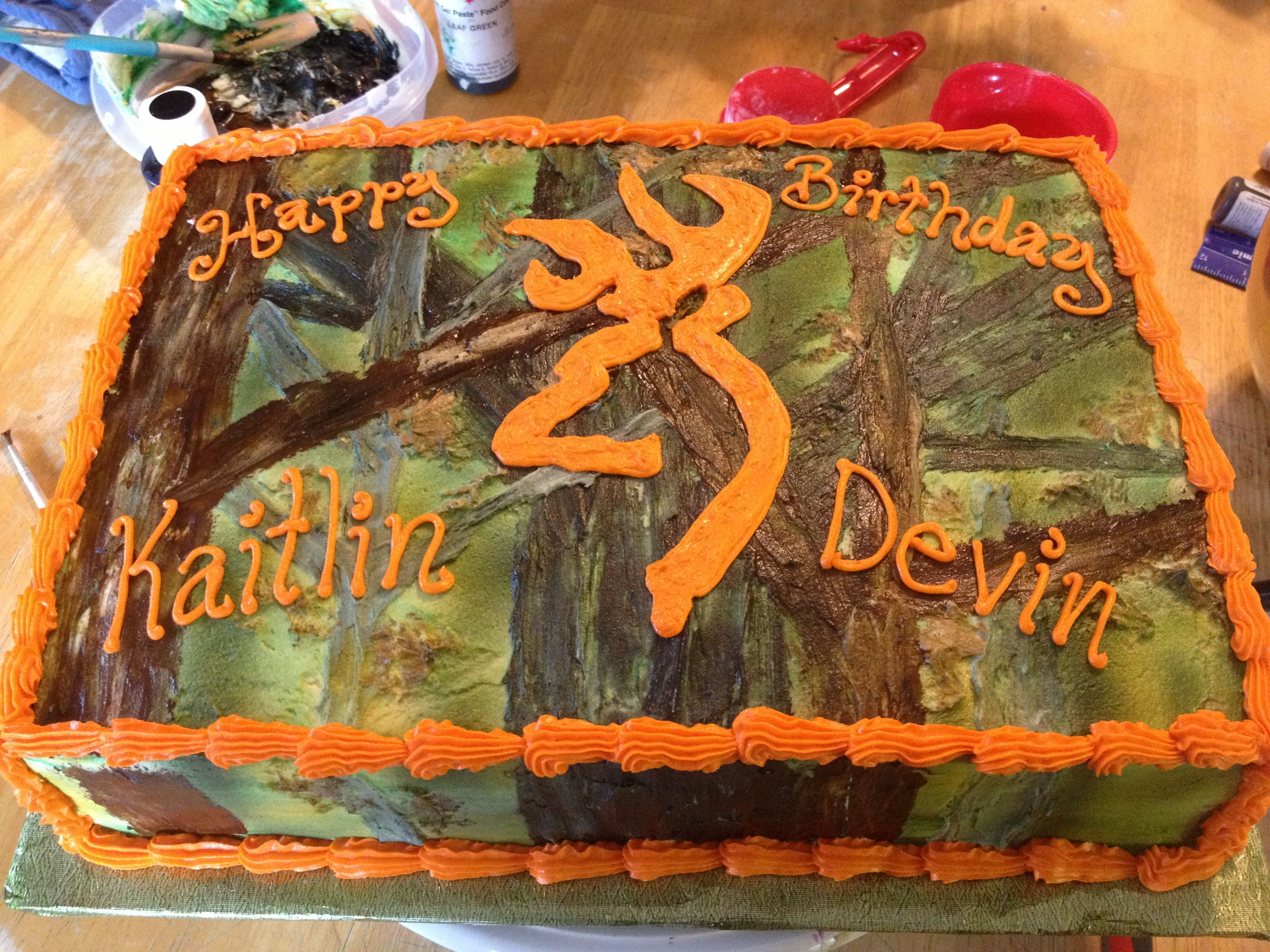Camo Birthday Cake Camo Birthday Cake For Two People Camo Cakes Pinterest Camo