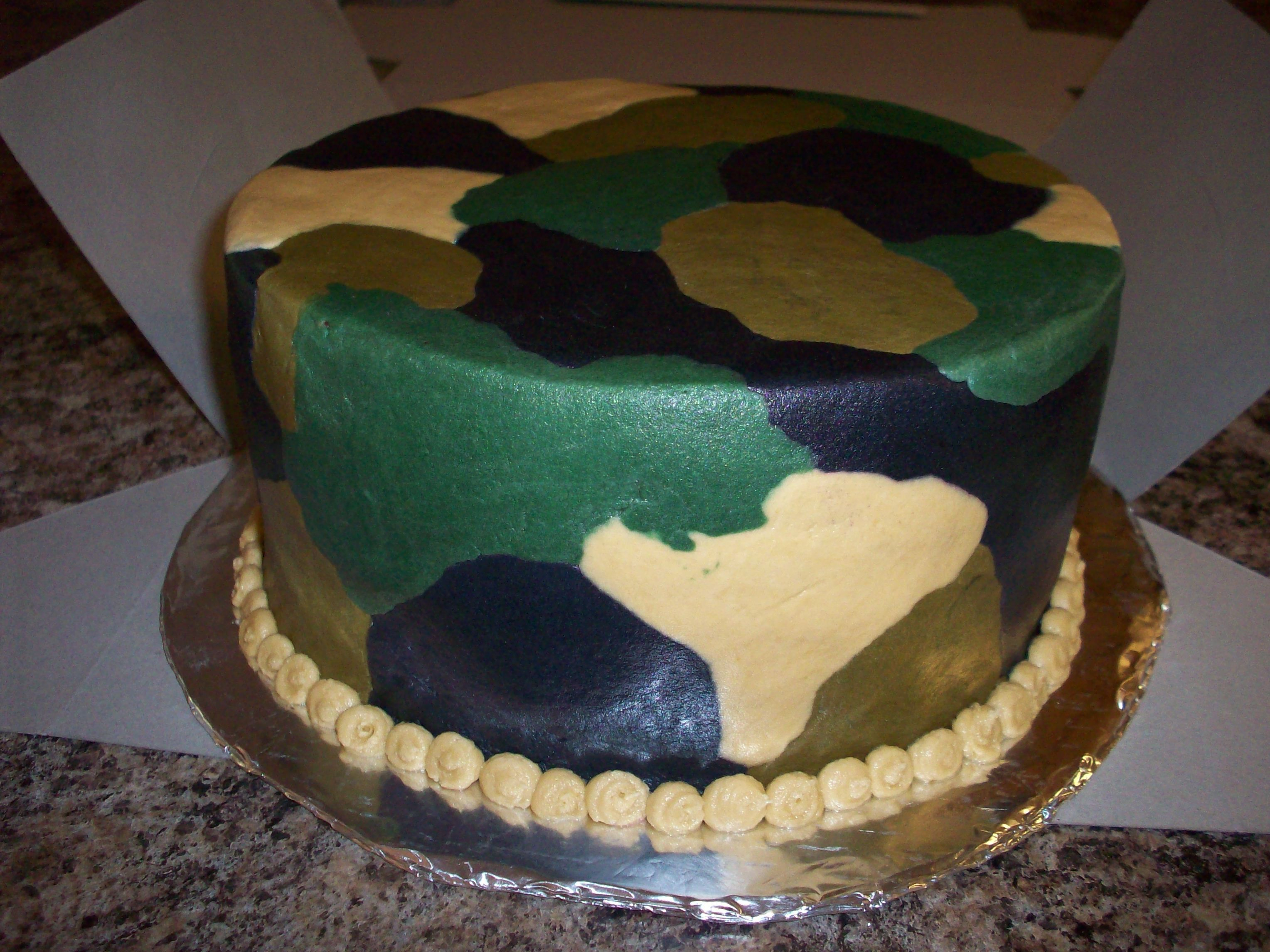 Camo Birthday Cake Camo Camoflauge Cake For A Big Hunter His Wife Just Wanted It