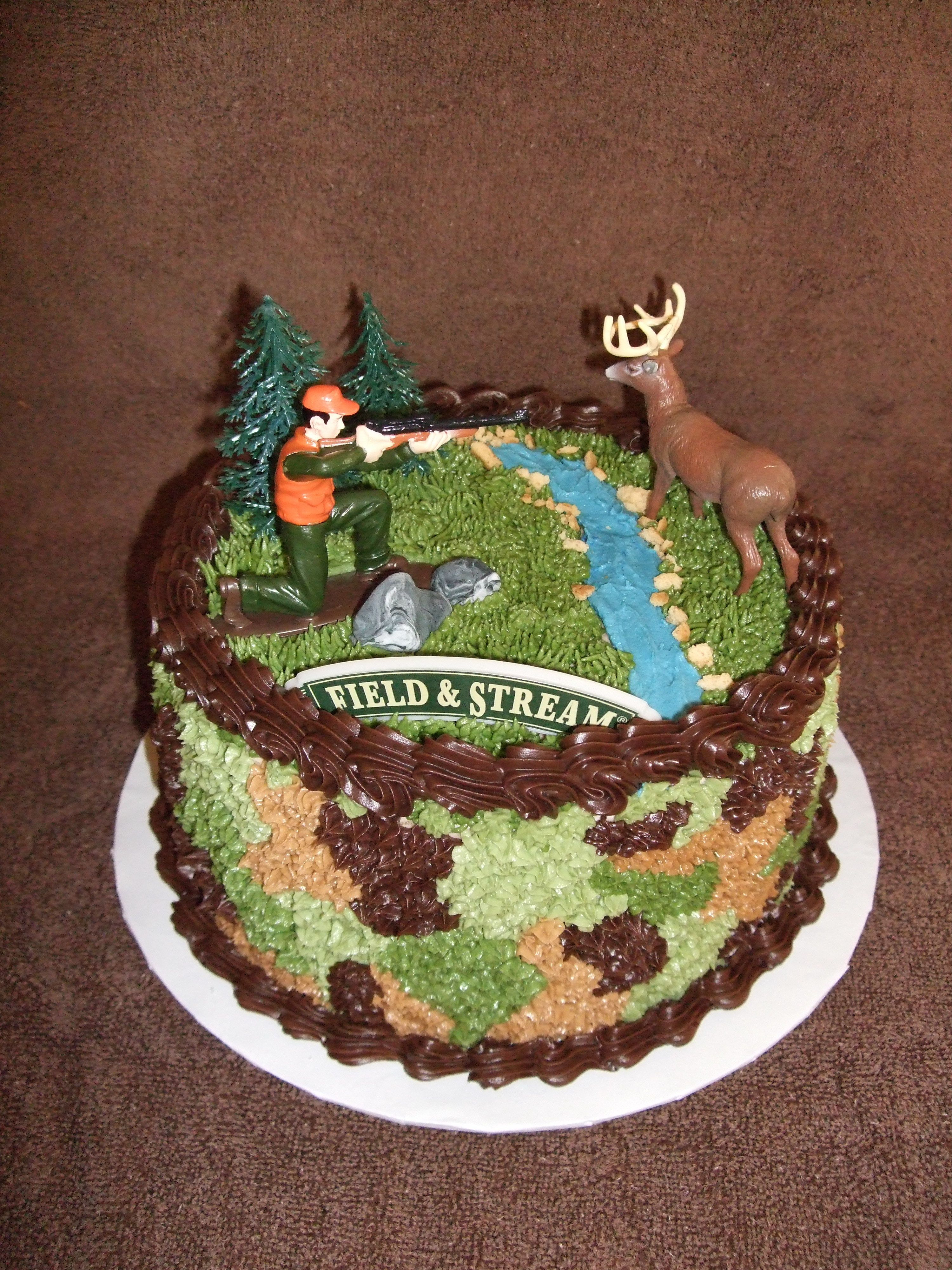 Camo Birthday Cake Camo Hunting Cake Birthday Cake For An Avid Deer Hunter Wasc And