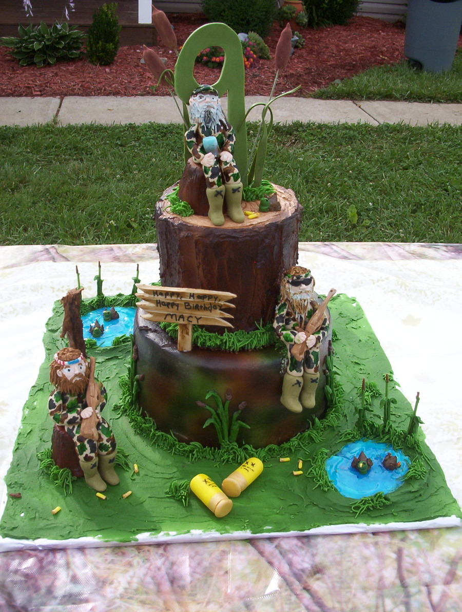 Camo Birthday Cake Duck Dynasty Camo Birthday Cake Cakecentral