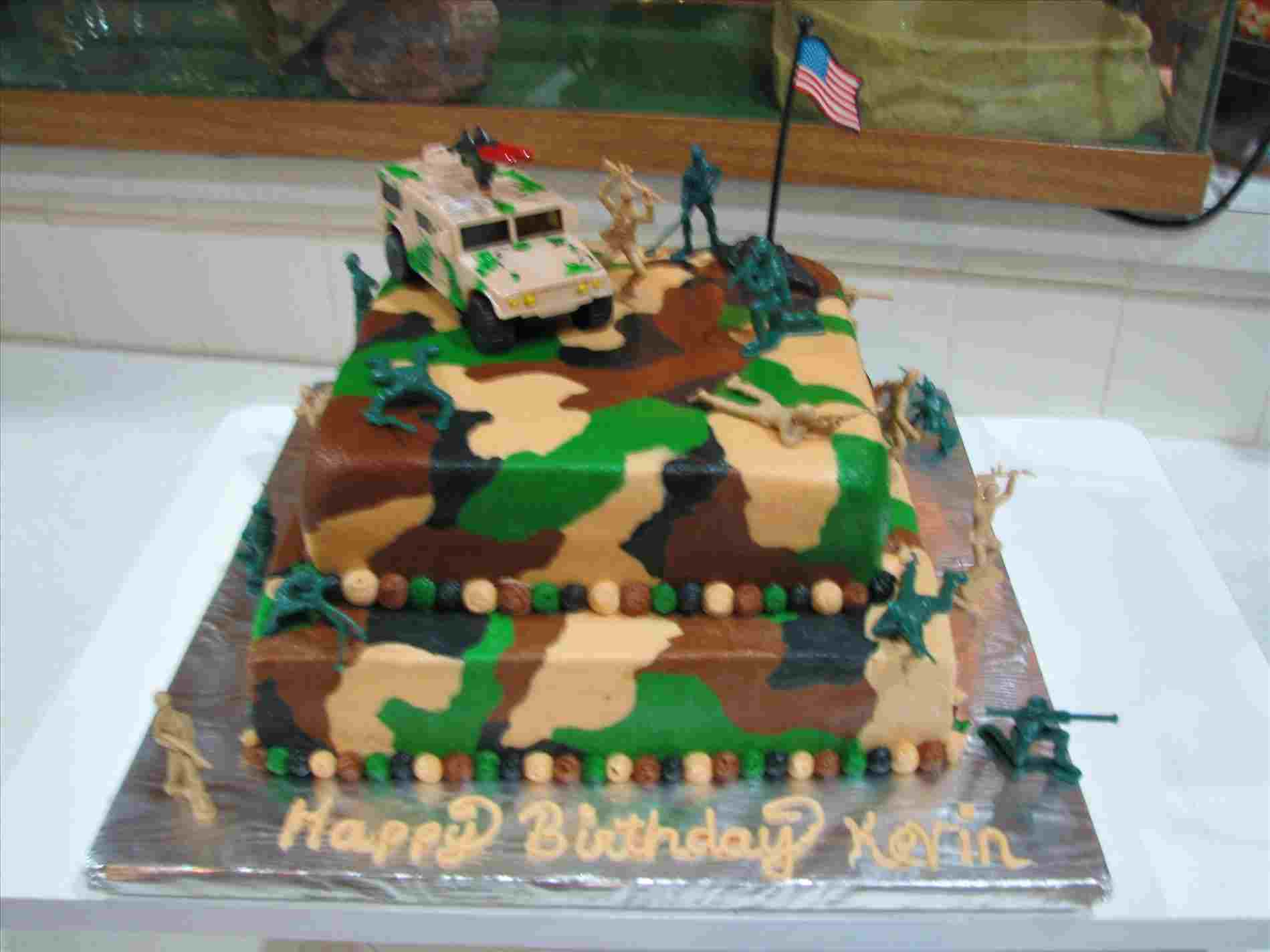 Camo Birthday Cake For Yr Old Who Loves Anything Rhpinterestcom Theme Army Camo