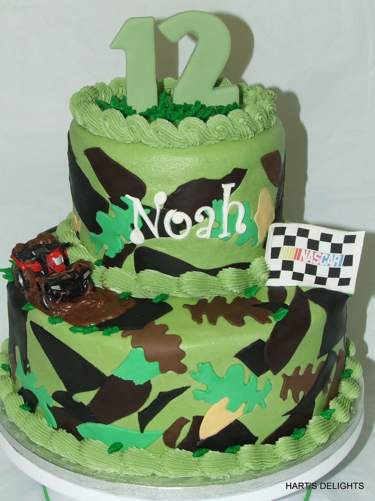 Camo Birthday Cake Noahs Camo Birthday Cake Debbie Flickr