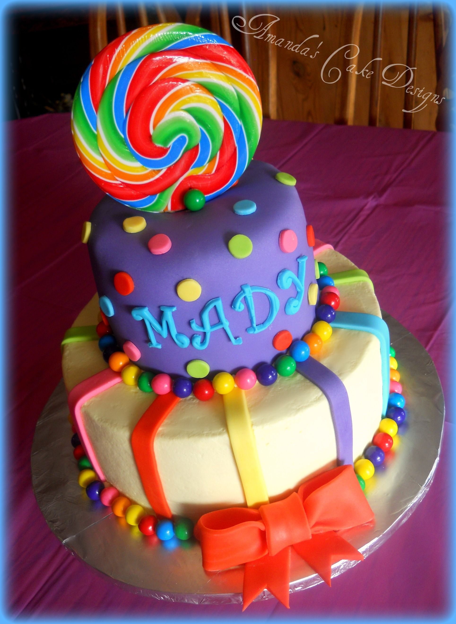 Candyland Birthday Cake Cute This Would Be Cute For A Candyland Party Made My Fav Baker