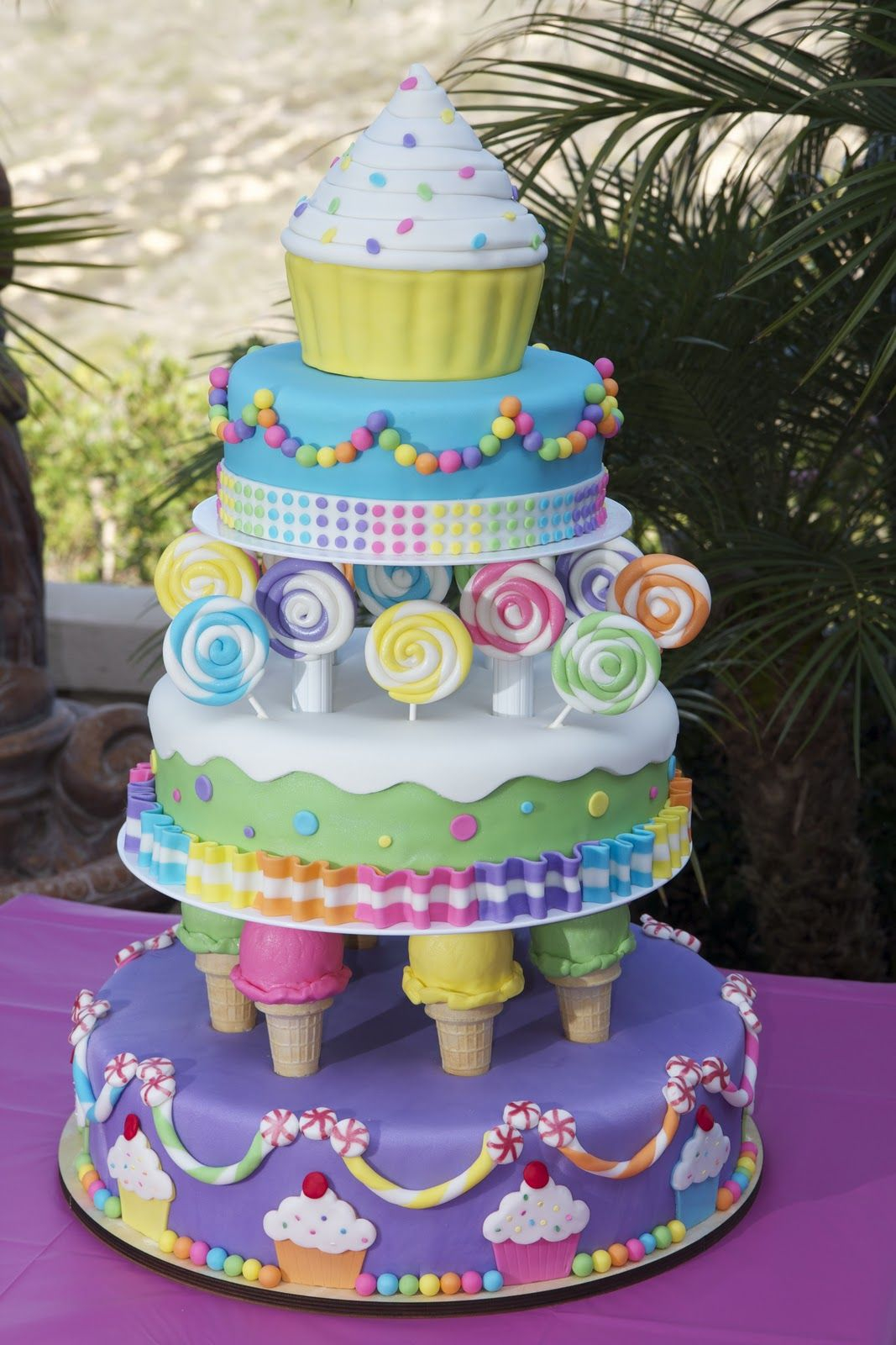 Candyland Birthday Cake Kaylynn Cakes Large Themed