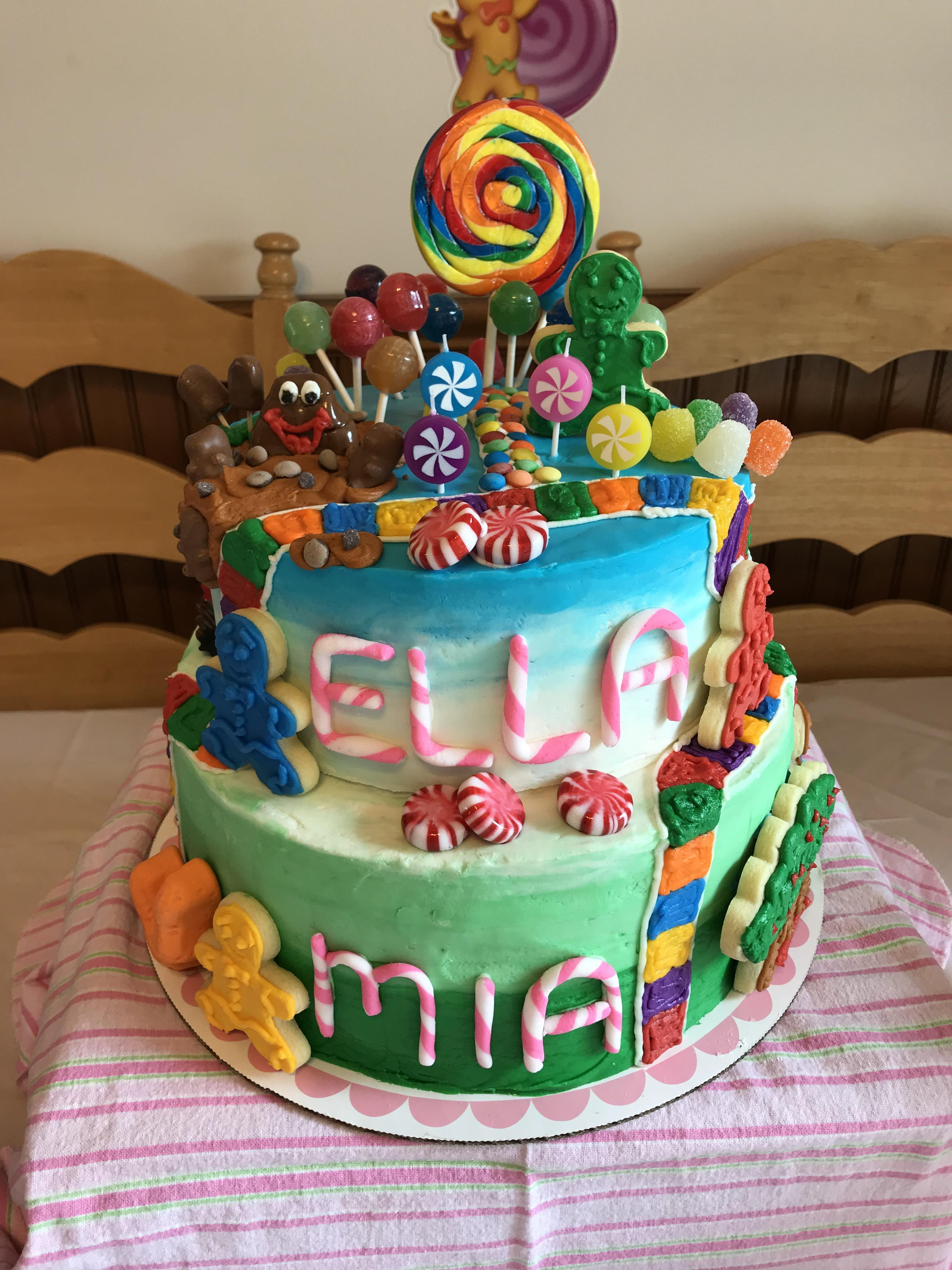 Candyland Birthday Cake My Sisters Made A Candyland Birthday Cake Baking