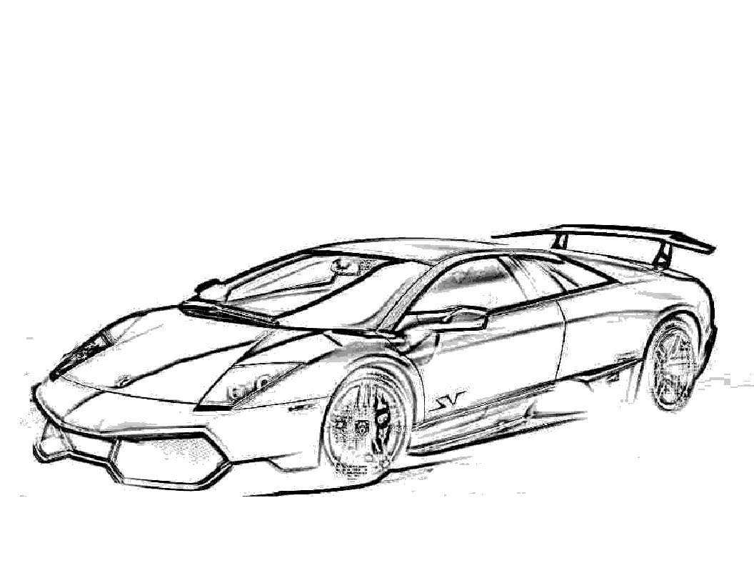 Car Coloring Pages Free Printable Lamborghini Coloring Pages For Kids
