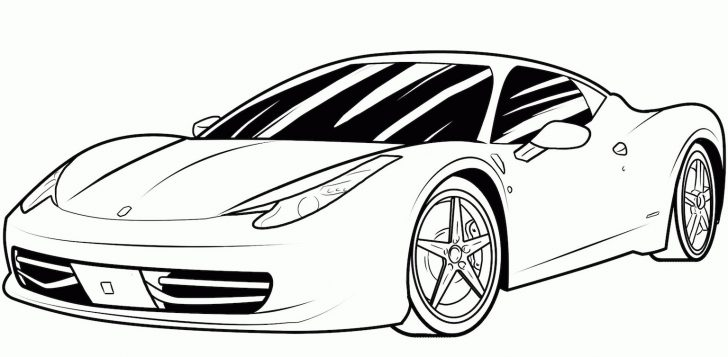Car Coloring Pages Sports Car Coloring Pages Free And Printable